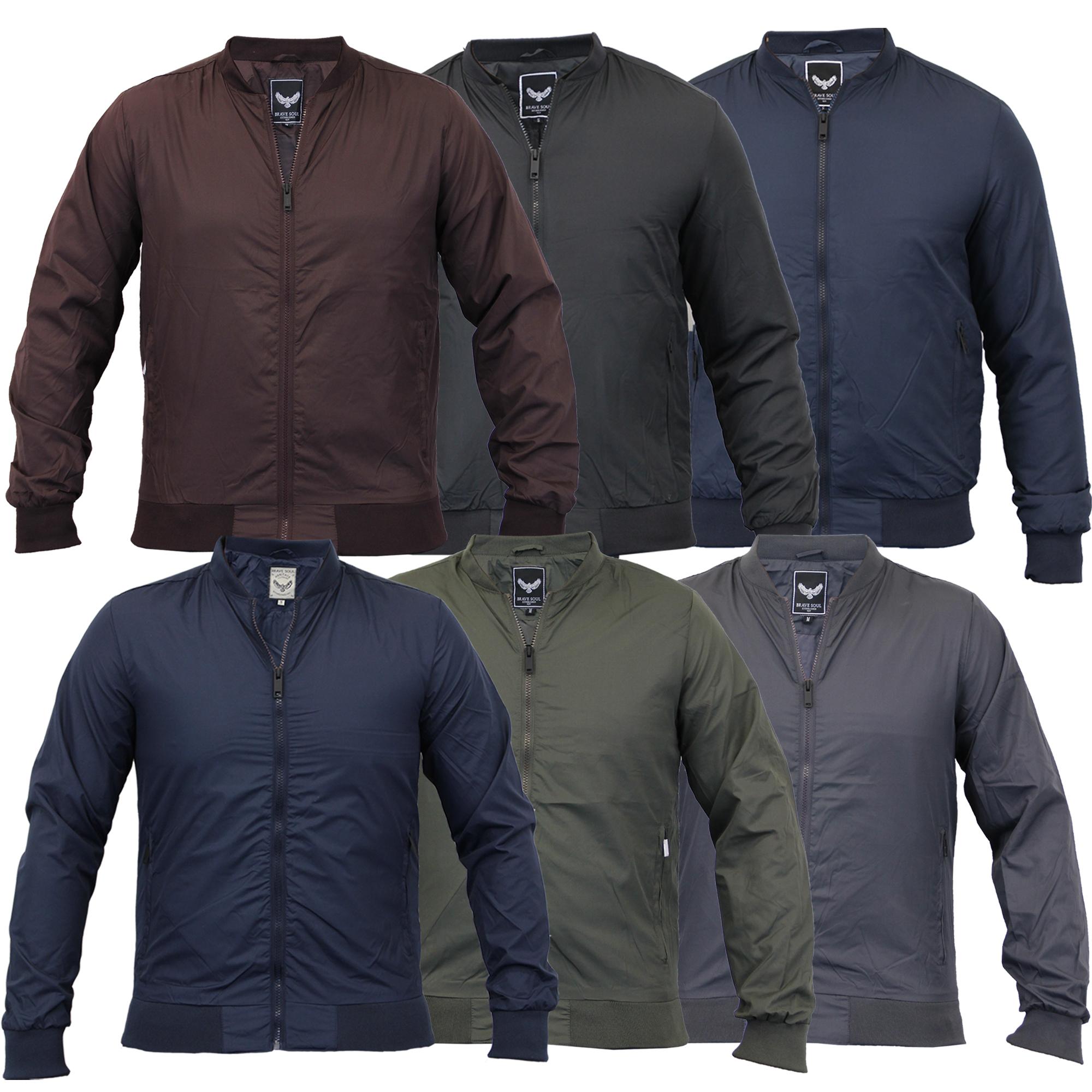 Mens jacket casual - Mens Jacket Brave Soul Coat Harrington Biker Bomber