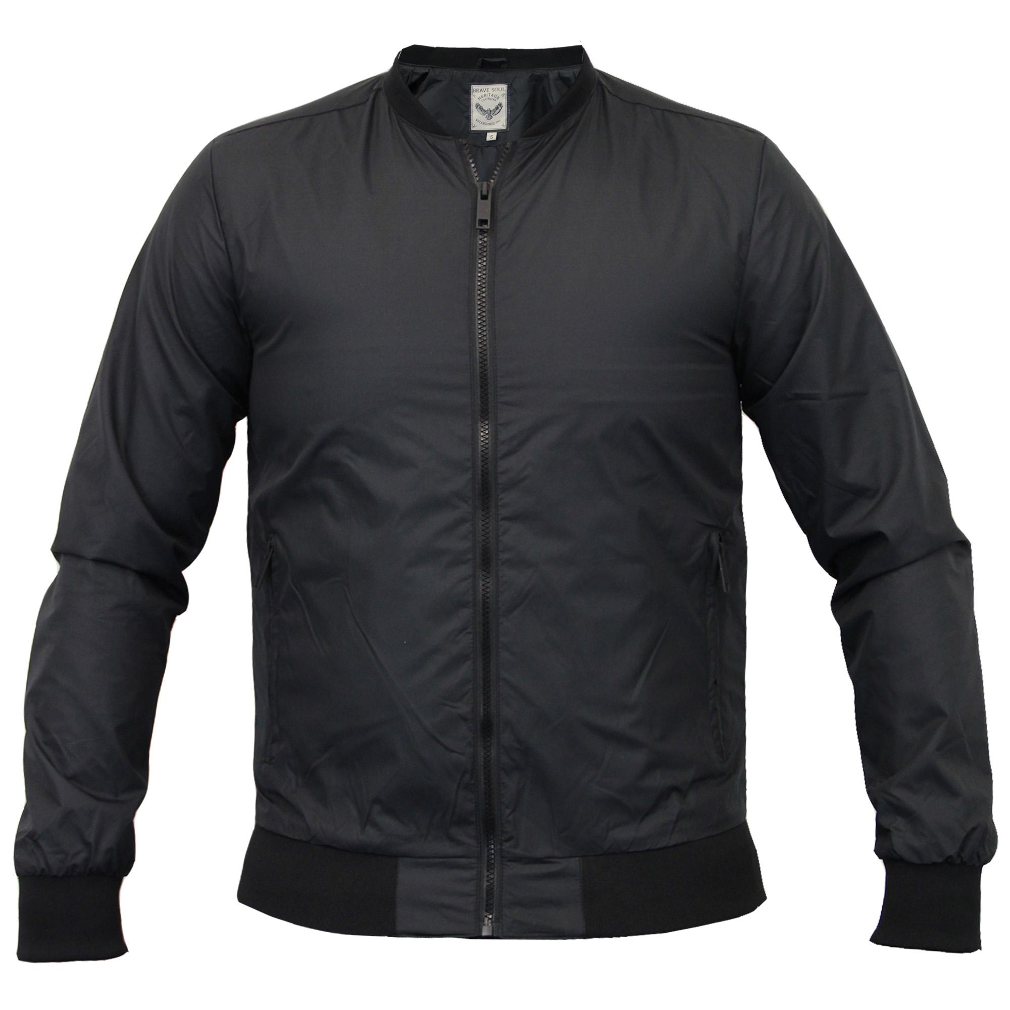 mens jacket brave soul coat bomber baseball collared. Black Bedroom Furniture Sets. Home Design Ideas