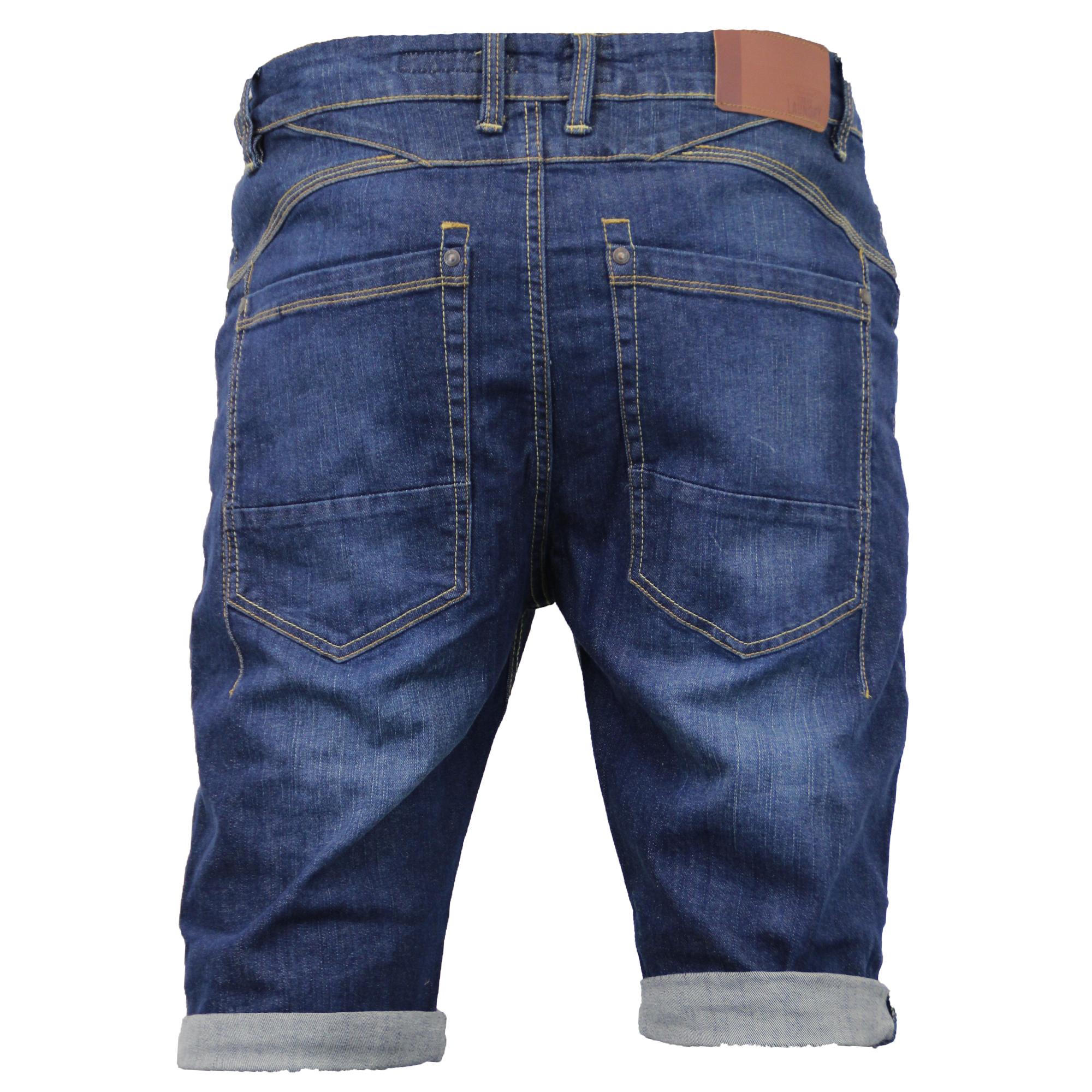 Mens Denim Shorts Tokyo Laundry Jeans Bottoms Roll Up Knee ...
