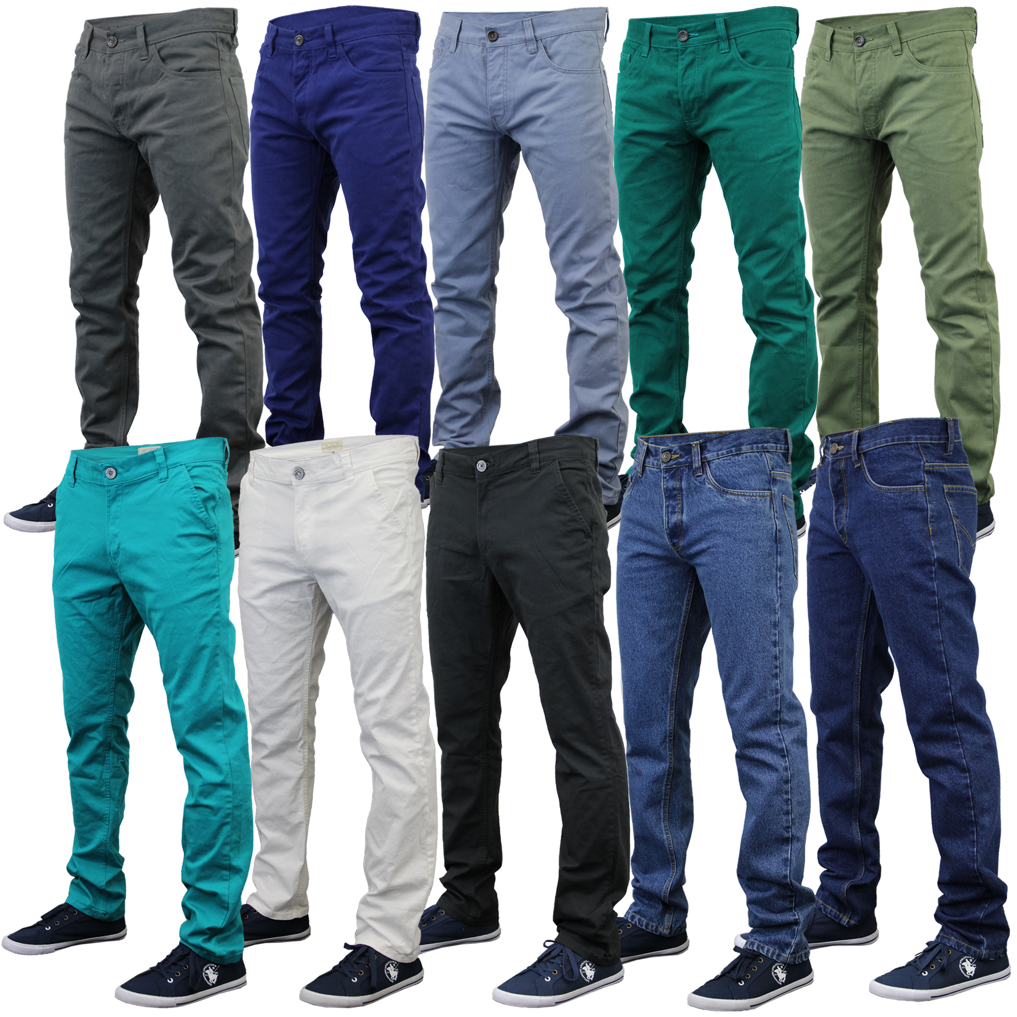 Mens Chino Jeans Jack South Kushiro City Denim Pants Slim ...