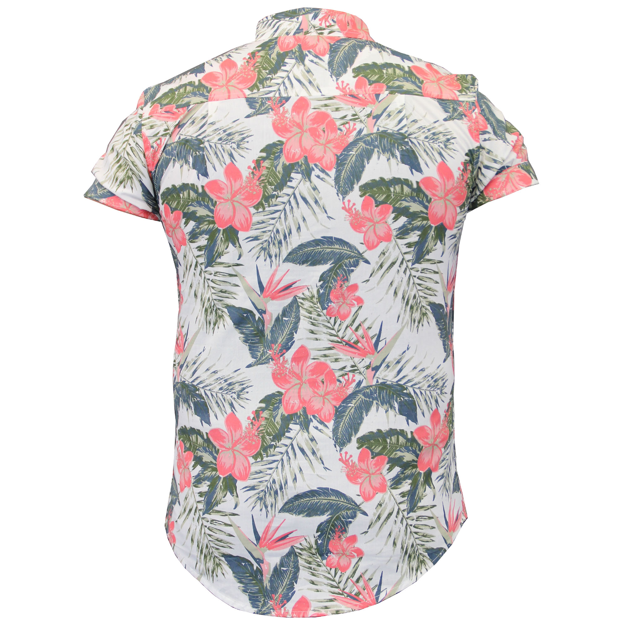 7b756d8f0 Para Hombre camisas hawaianas few Estampado Floral Chambray Manga