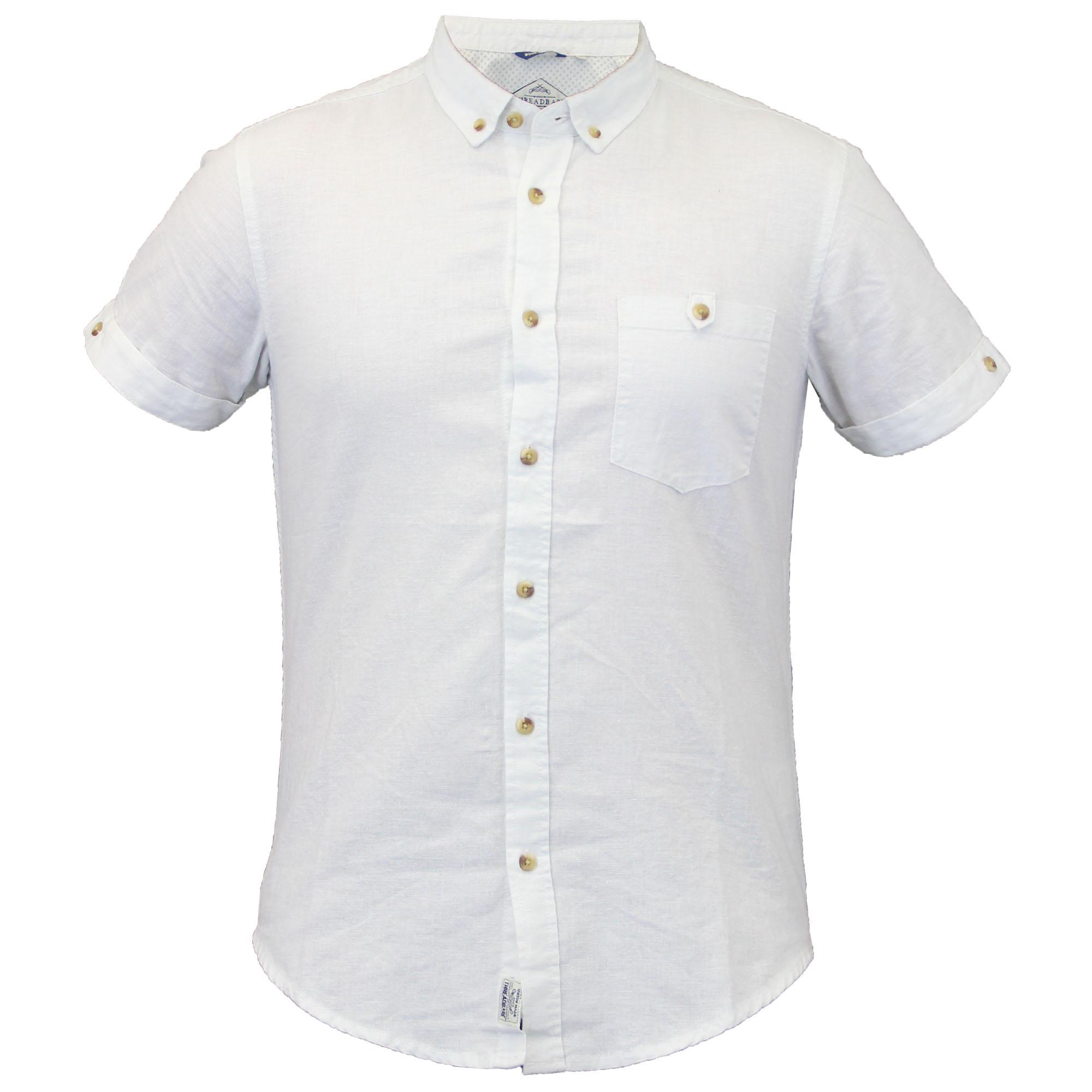 Mens shirts threadbare linen chambray short sleeved for Mens summer linen shirts