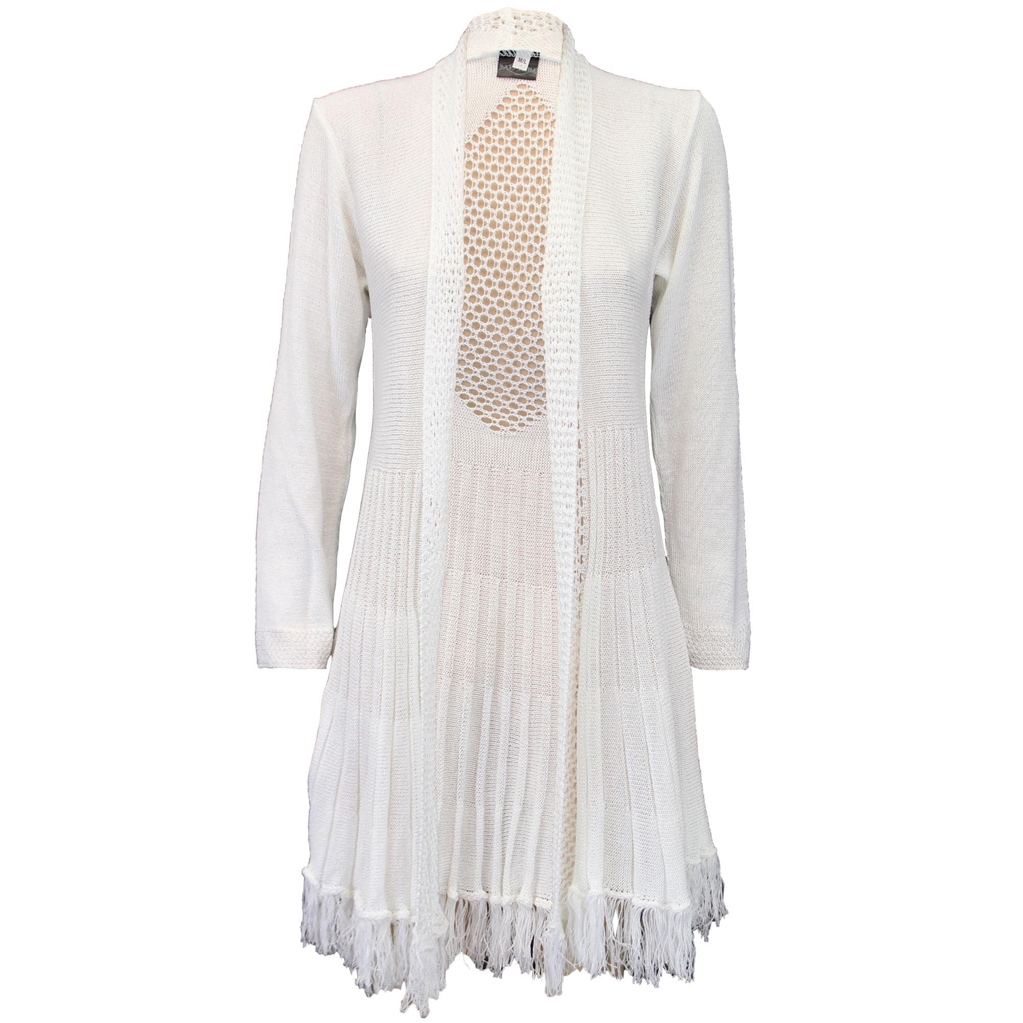 Knitting Pattern Waterfall Cardigan Free : Ladies Cardigan Womens Knitted Open Front Waterfall Boyfriend Crochet Winter ...
