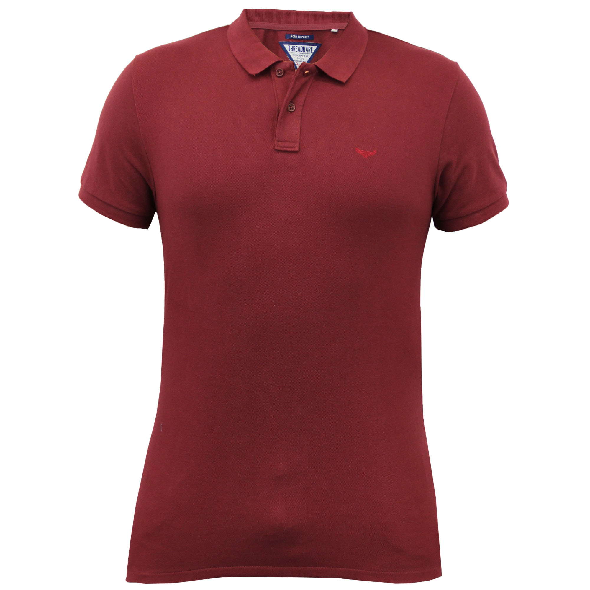 Mens polo t shirt threadbare top collared short sleeved for Mens casual collared shirts