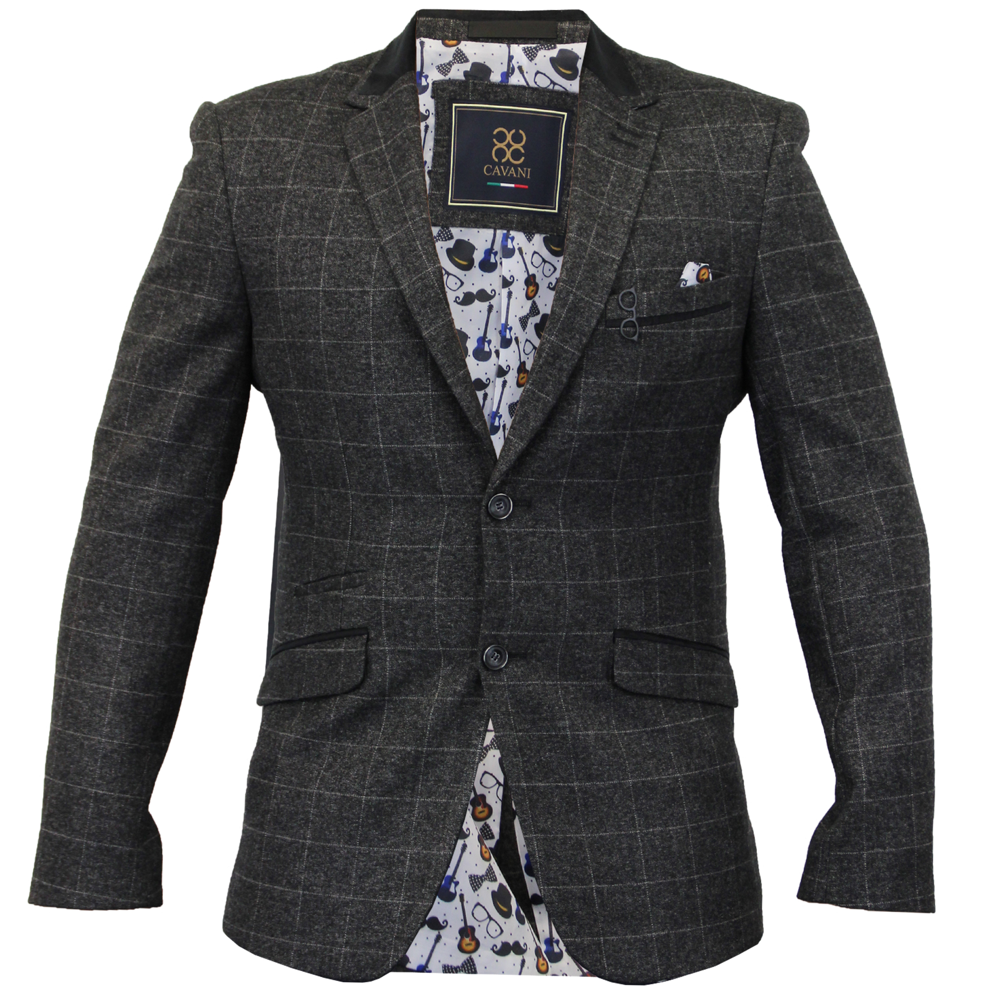 Mens Blazer Formal Coat Smart Suit Dinner Jacket Cavani ...