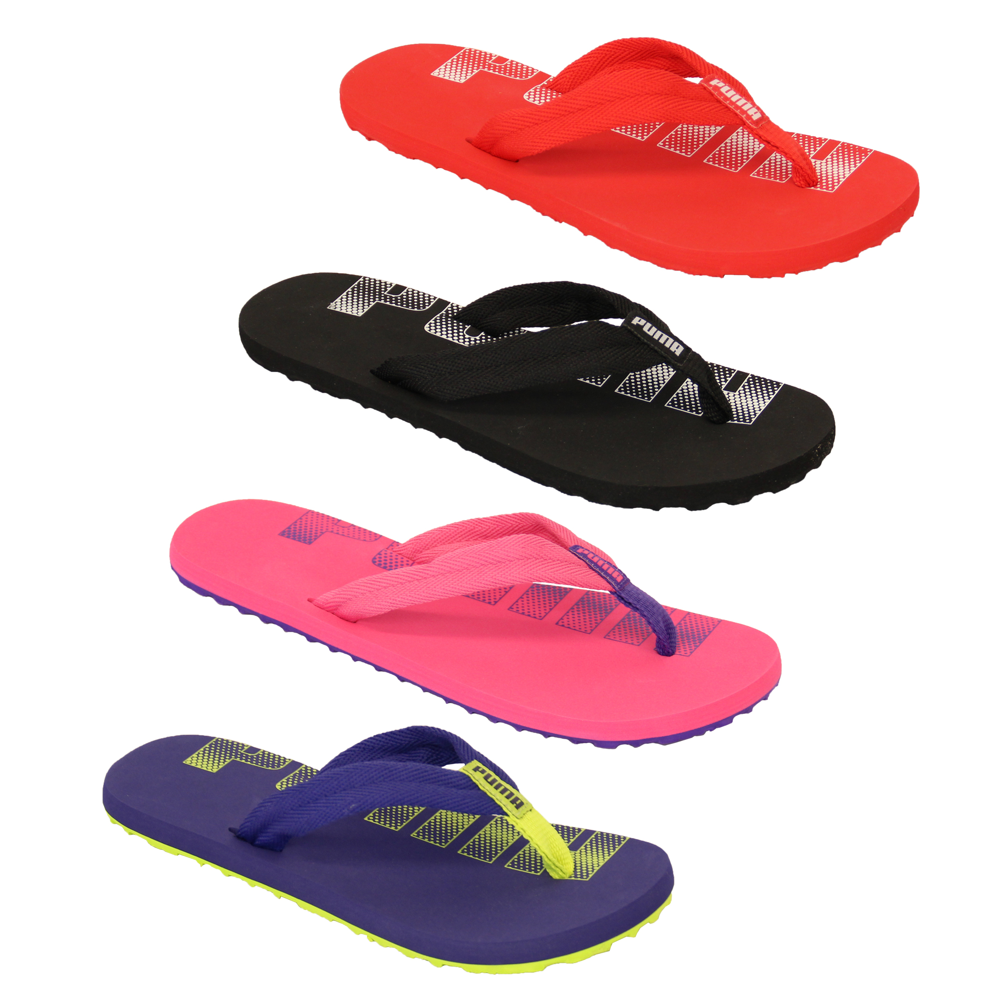 boys puma epic flip flops kids toe post girls sandals summer holidays beach new ebay. Black Bedroom Furniture Sets. Home Design Ideas