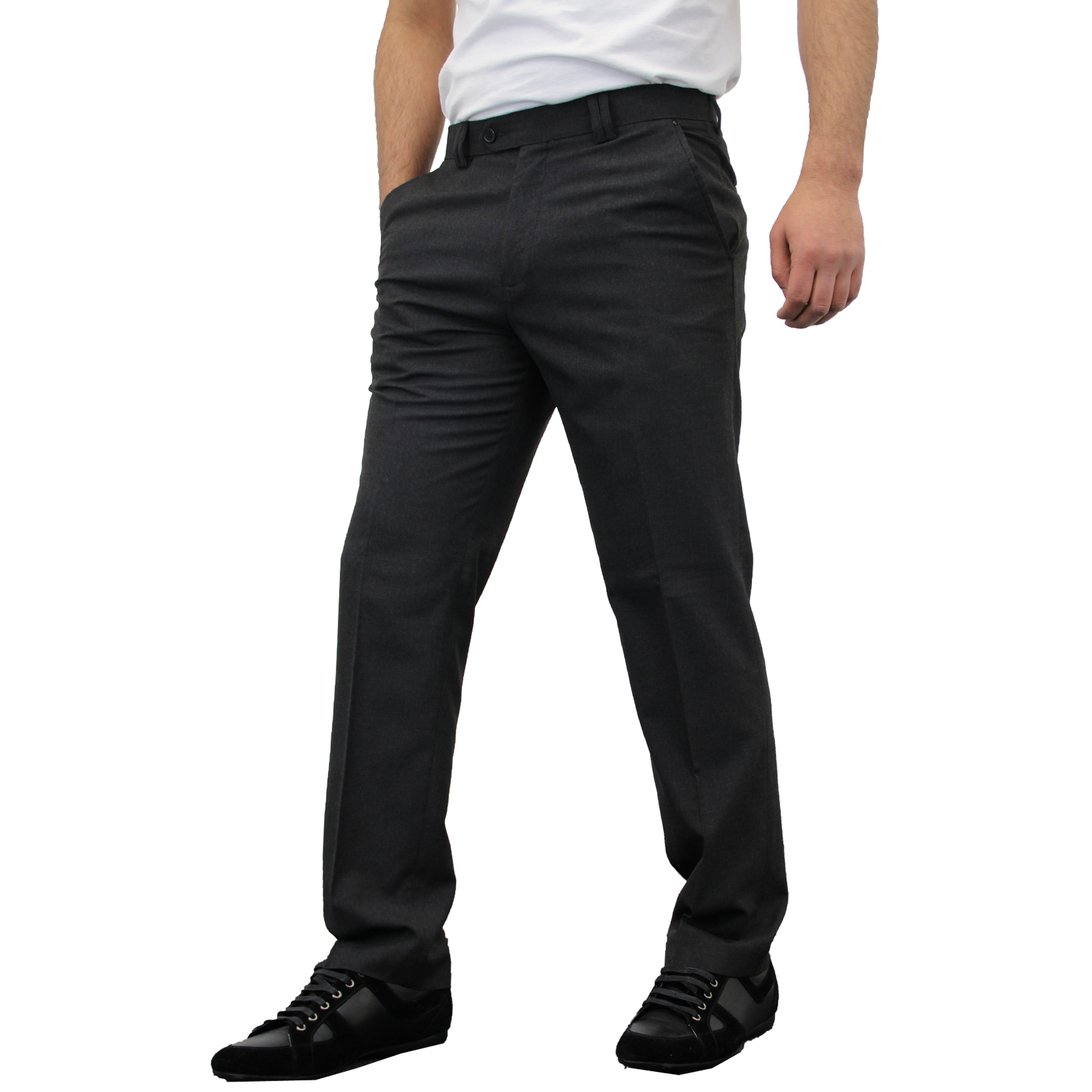 Mens Trouser Soul London Formal Dress Pant Office Work Wedding Casual Designer | EBay