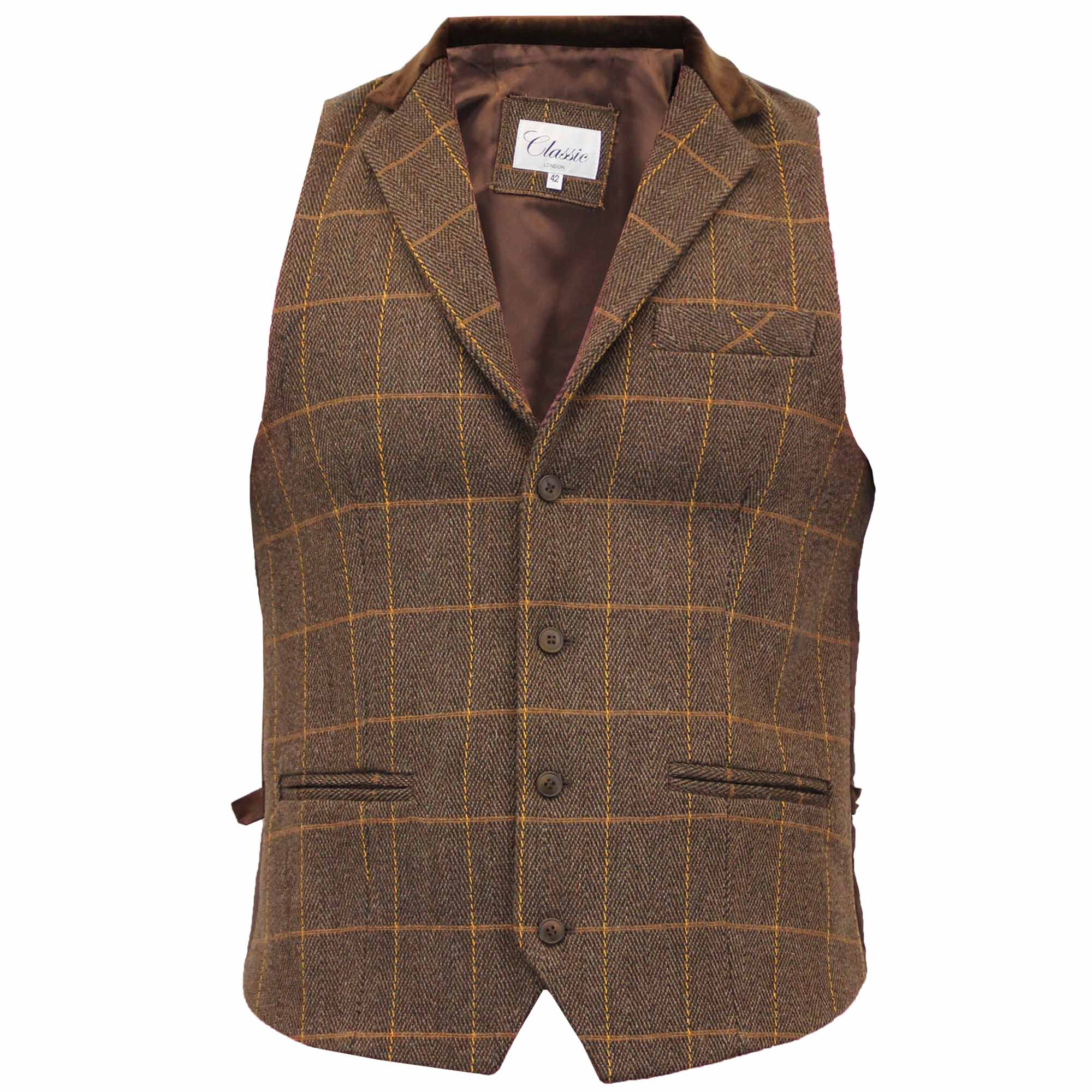Tweed is naturally durable, insulating and practical - the perfect fabric for a vest. With traditional British designs trending on the international fashion scene, tweed truly is enjoying its moment. Our collection of tweed vests come in a variety of colors, styles and designs perfect for daily wear and formal occasions.