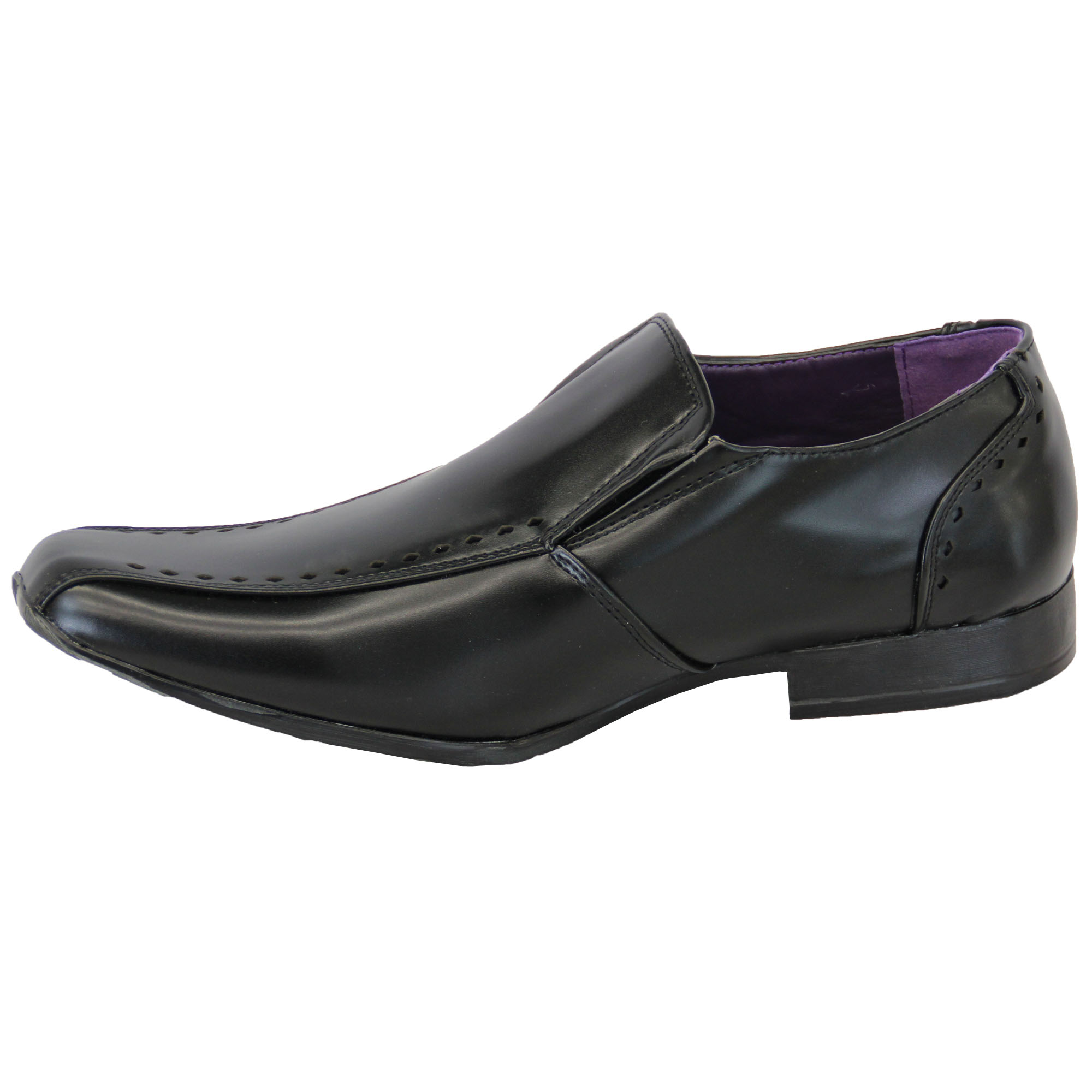 mens italian shoes formal slip on lace up velcro leather