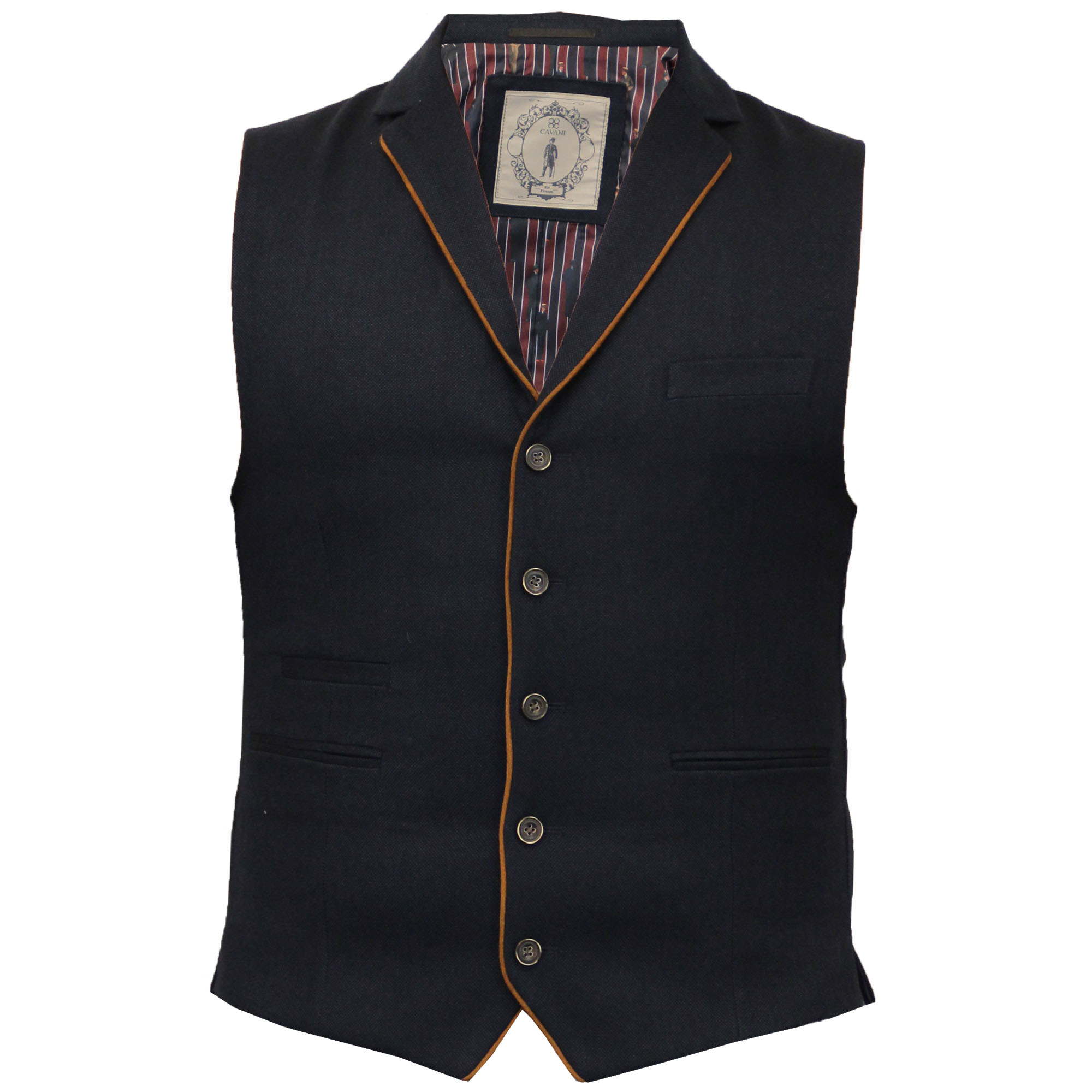 homme gilet cavani formel herringbone tweed carreaux gilet sans manche mariage neuf ebay. Black Bedroom Furniture Sets. Home Design Ideas