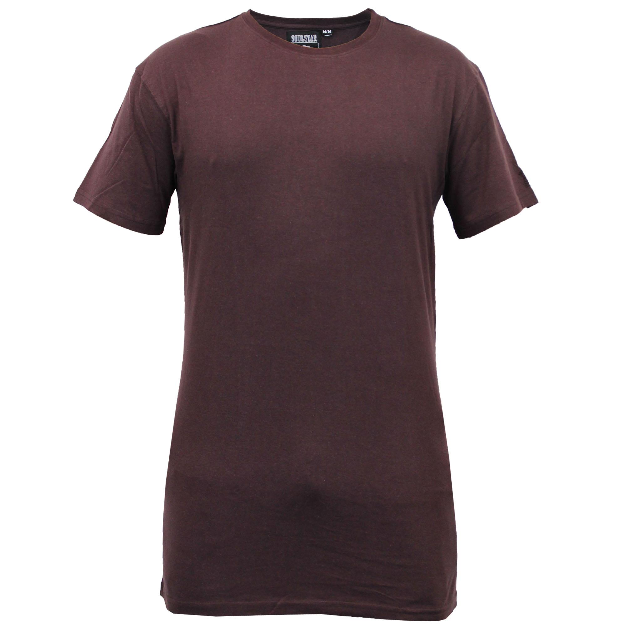Mens long line t shirt soul star american baseball short for Long line short sleeve t shirt