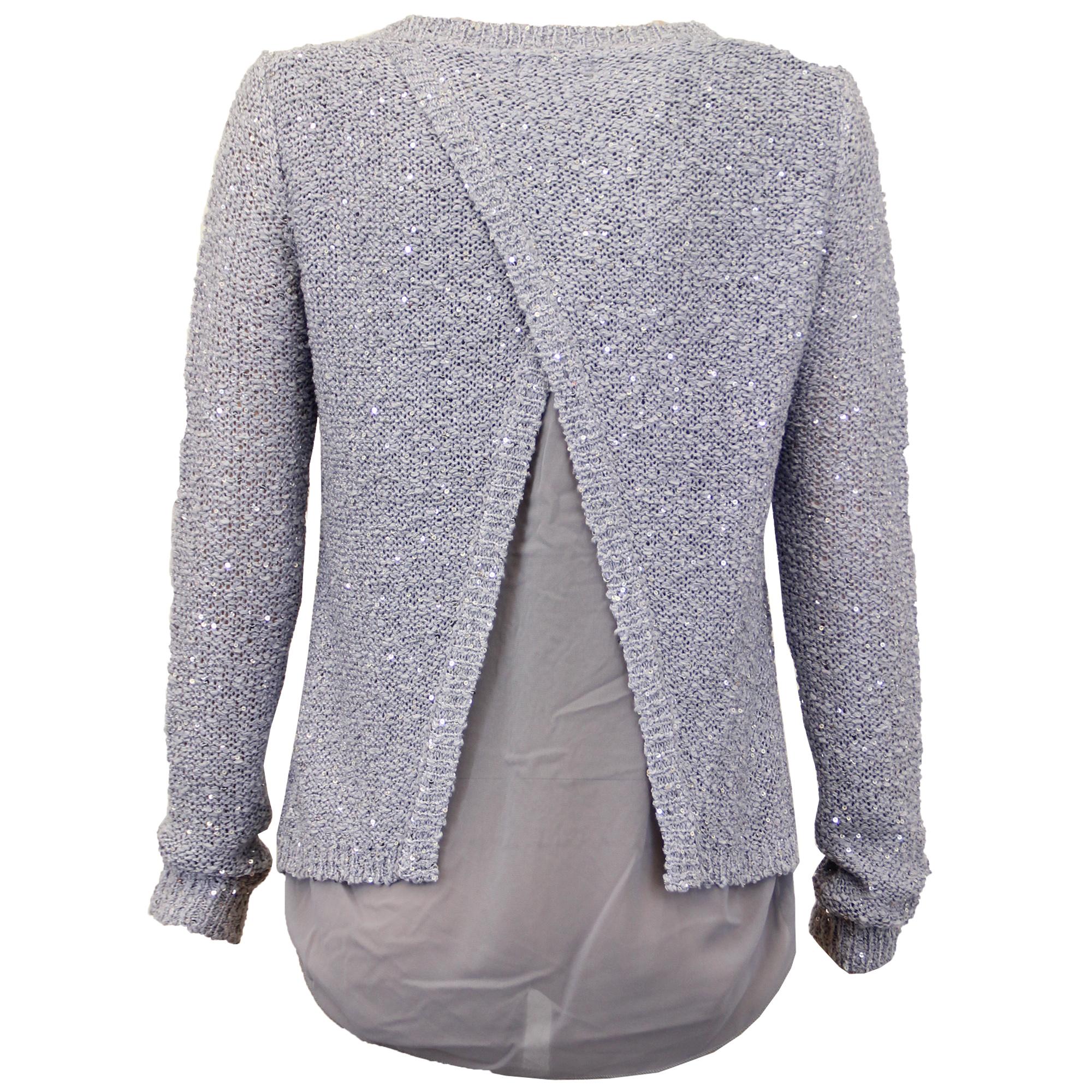 Ladies Jumper Brave Soul Womens Knitted Sweater Sequin Hi Low Hem ...