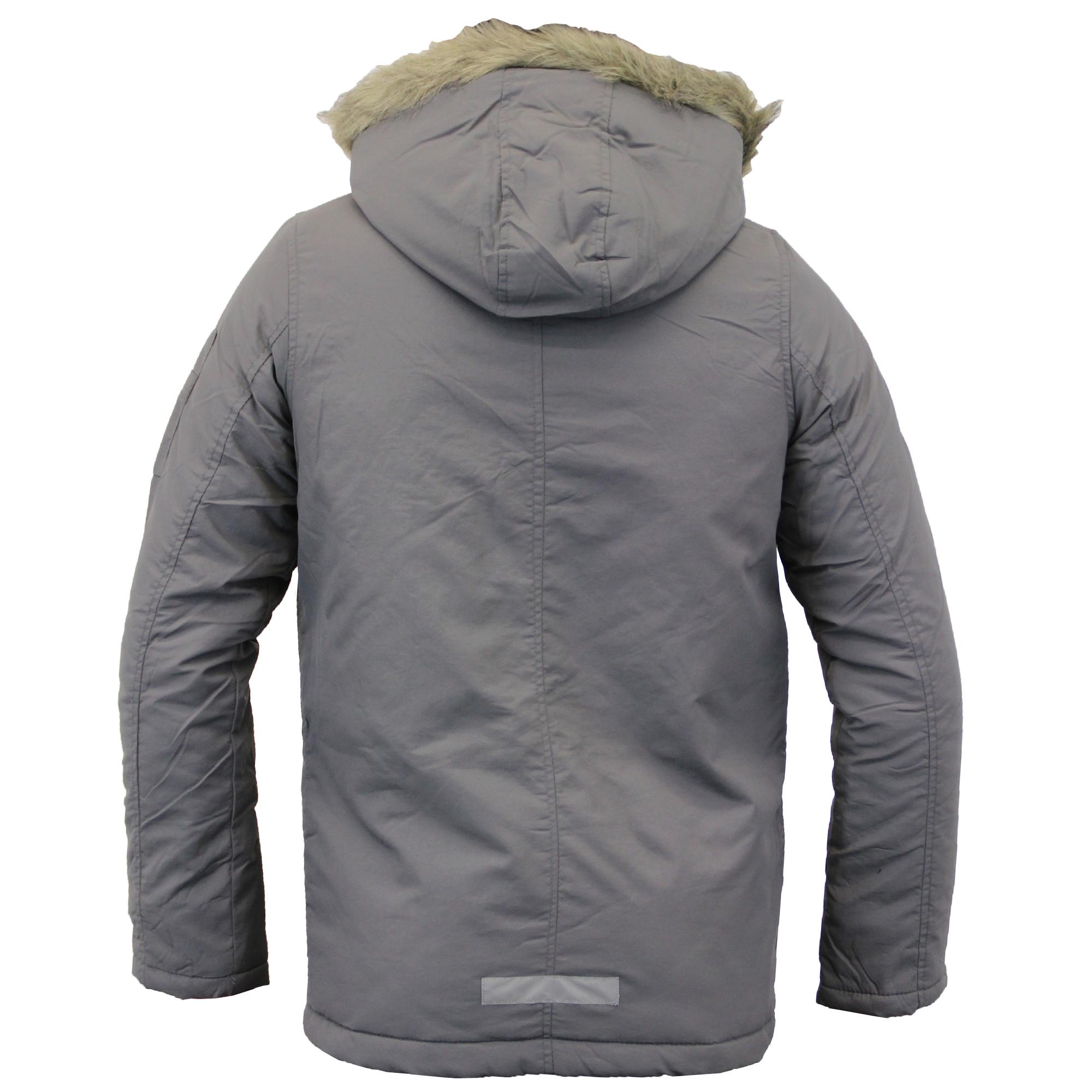 Boys Jacket Parka Coat Brave Soul Kids Padded Sherpa Hooded Fur ...