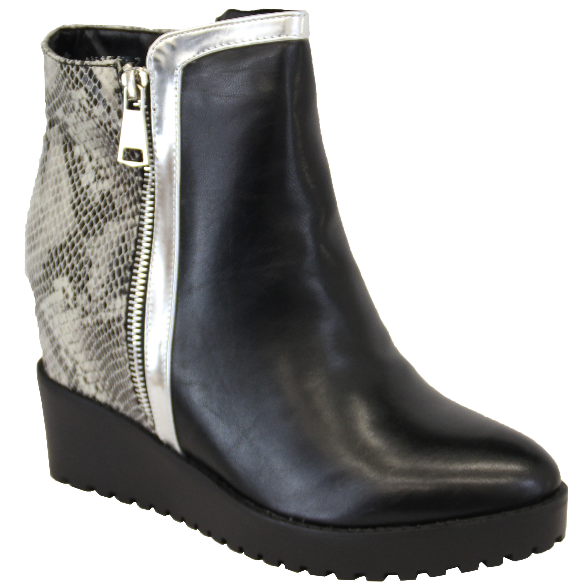 Ladies Grey Wedge Shoes