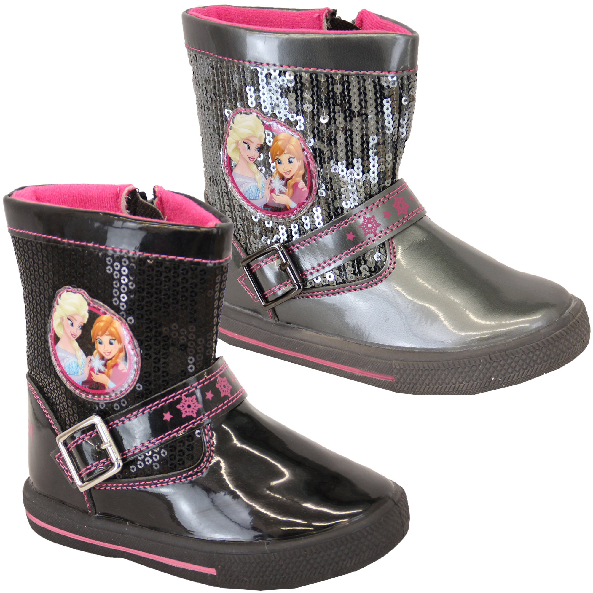Girls Frozen Snow Boots Kids Disney Anna Elsa Sequins