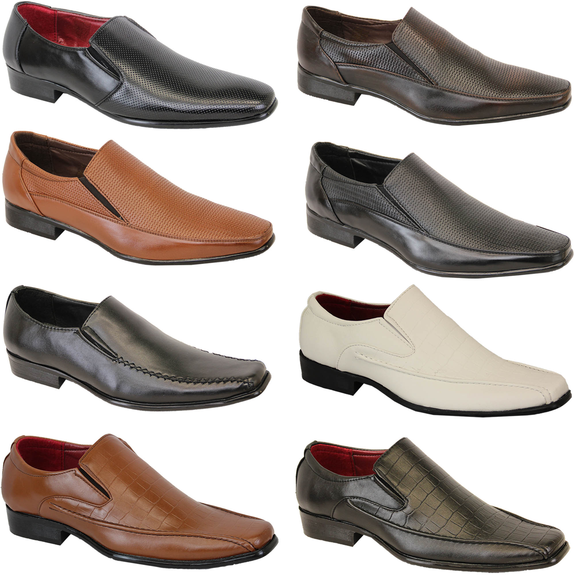 Mens Shoes Italian Formal Slip On Gio Gino