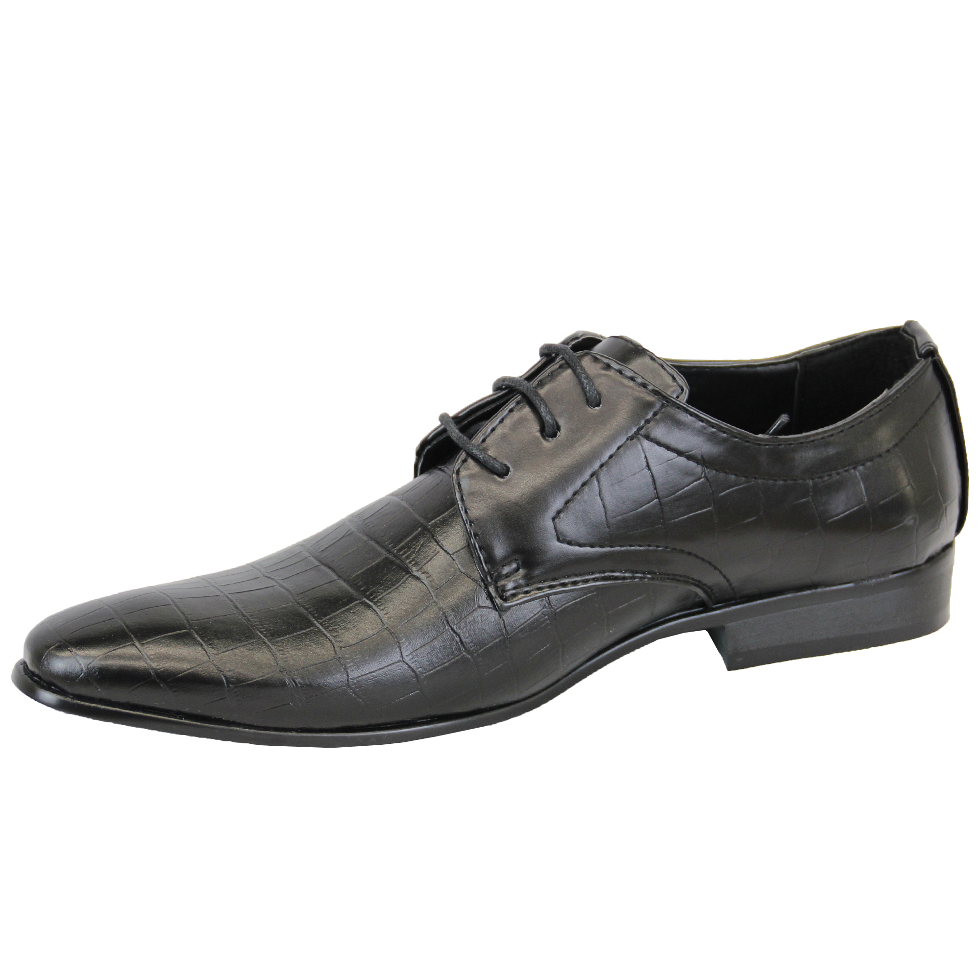 mens italian shoes formal lace up leather look work