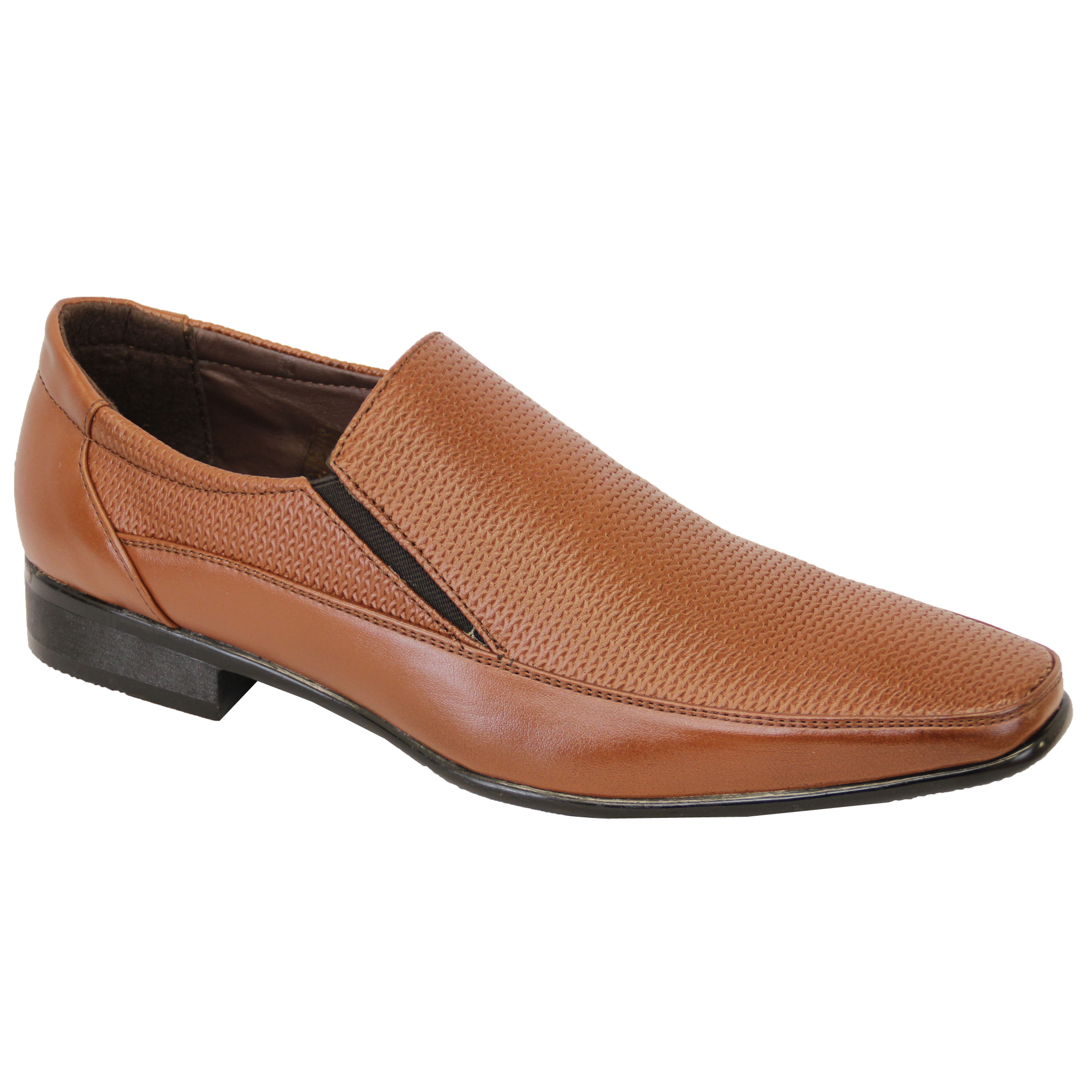 mens shoes italian formal slip on gio gino leather look