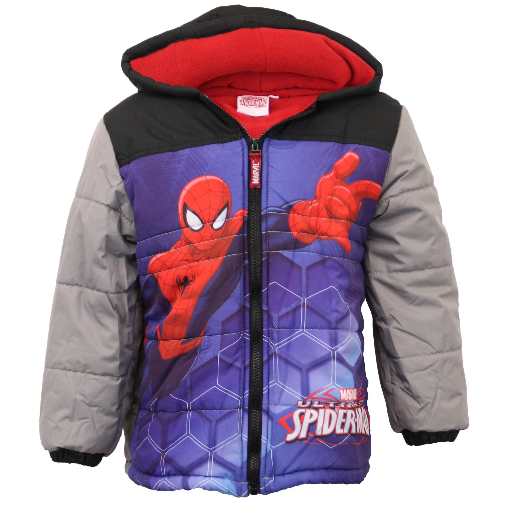 boys captain america spiderman jacket kids padded marvel disney