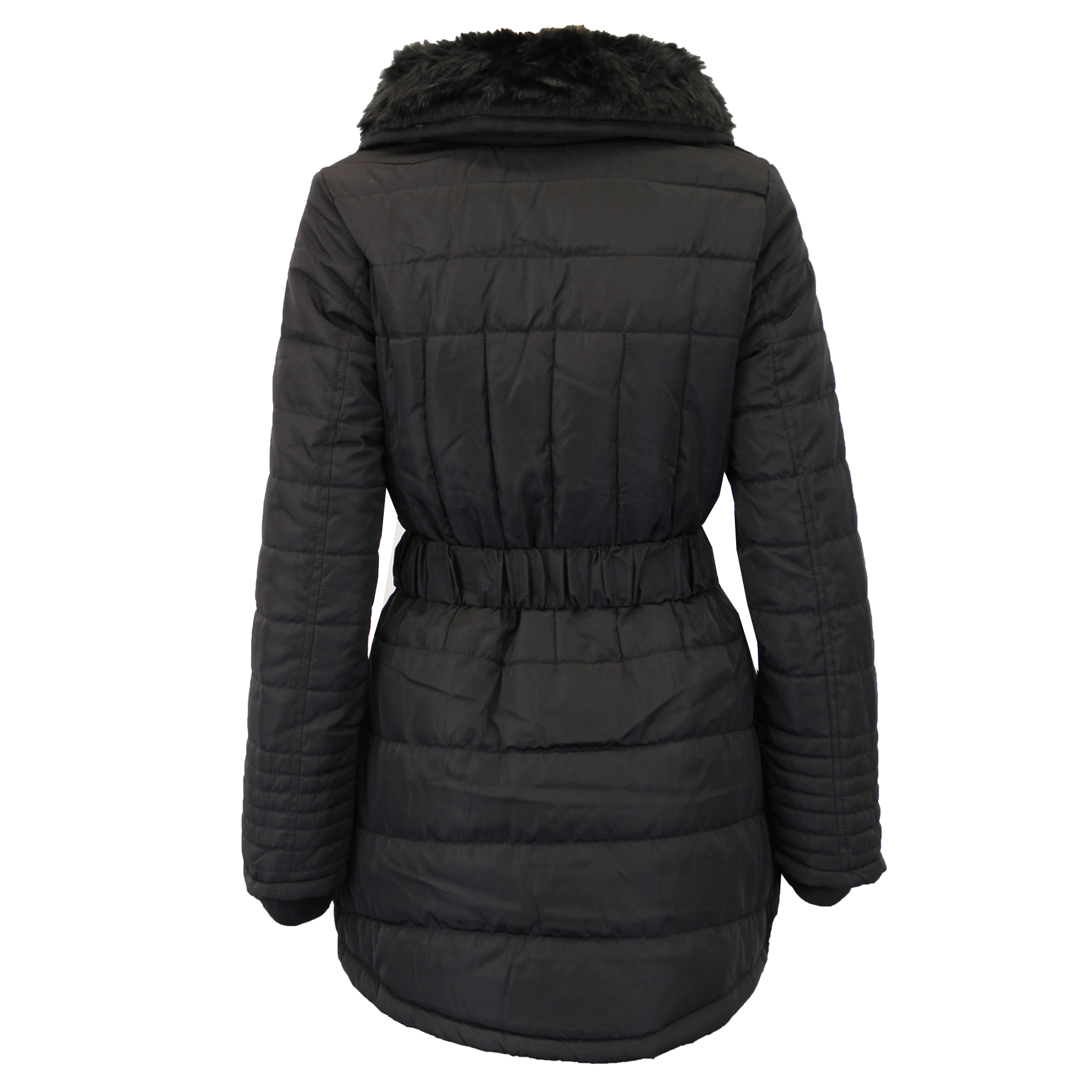 Ladies Parka Jacket Womens Brave Soul Coat Padded Hooded Fur BELT ...