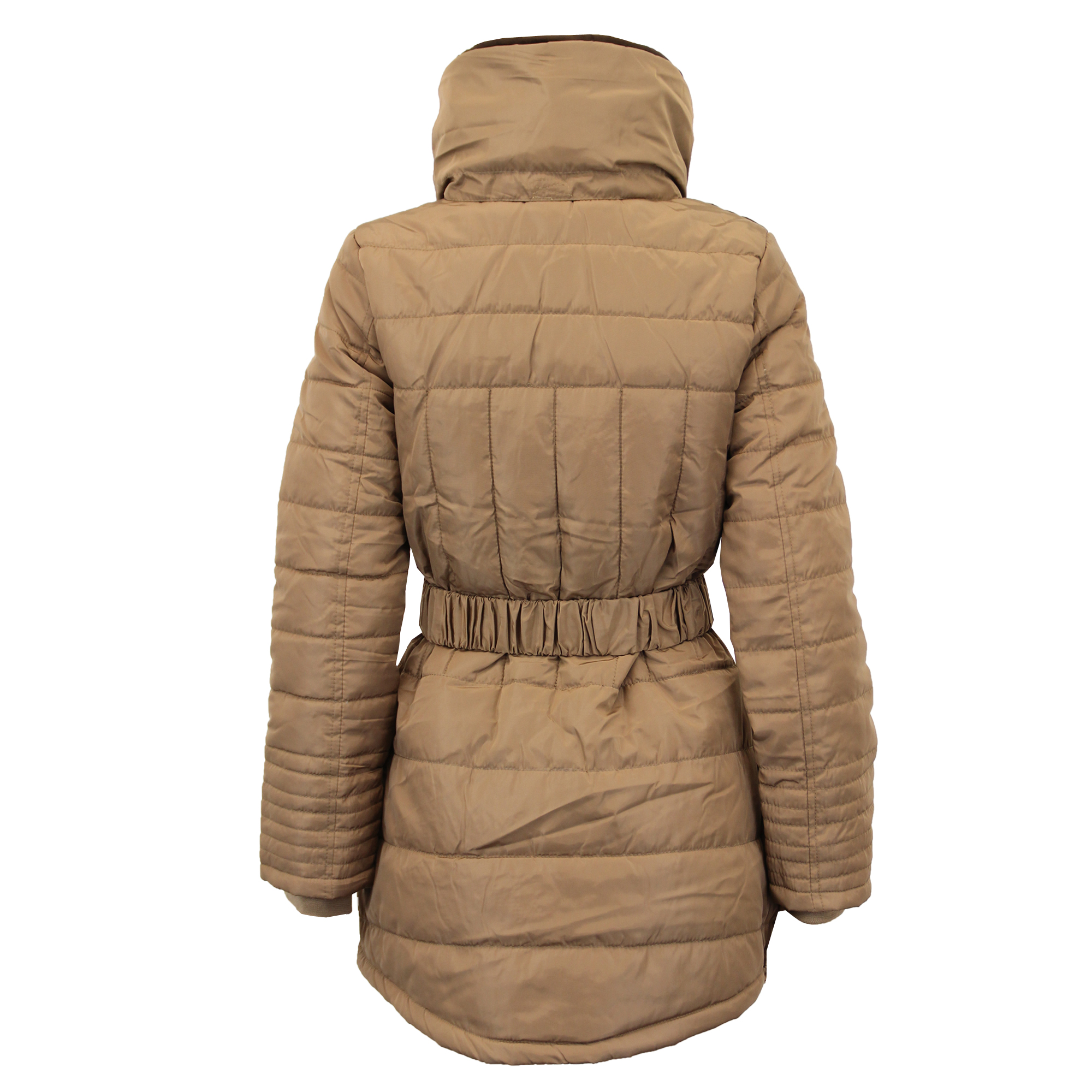 Ladies Parka Jacket Womens Brave Soul Coat Padded Hooded Fur BELT ...
