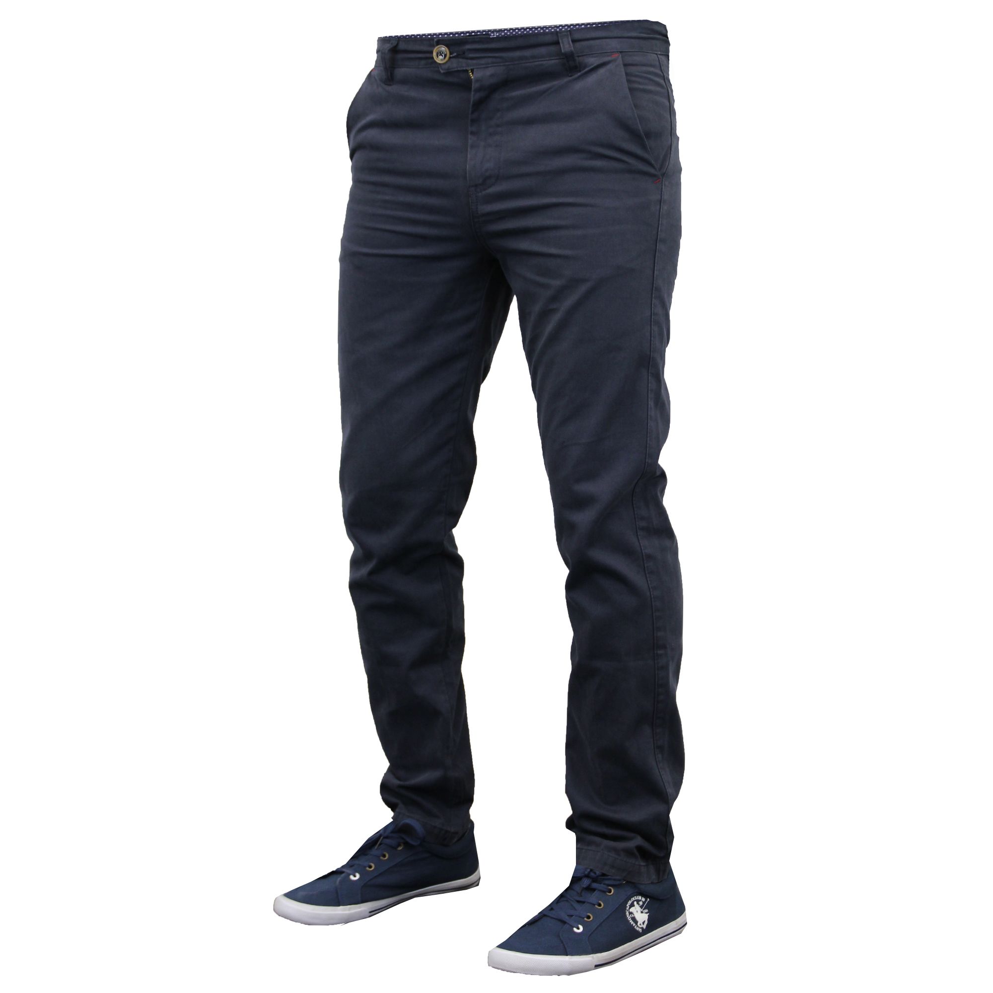 Mens Chino Jeans Stallion Bottoms Slim Fit Trousers Pants ...