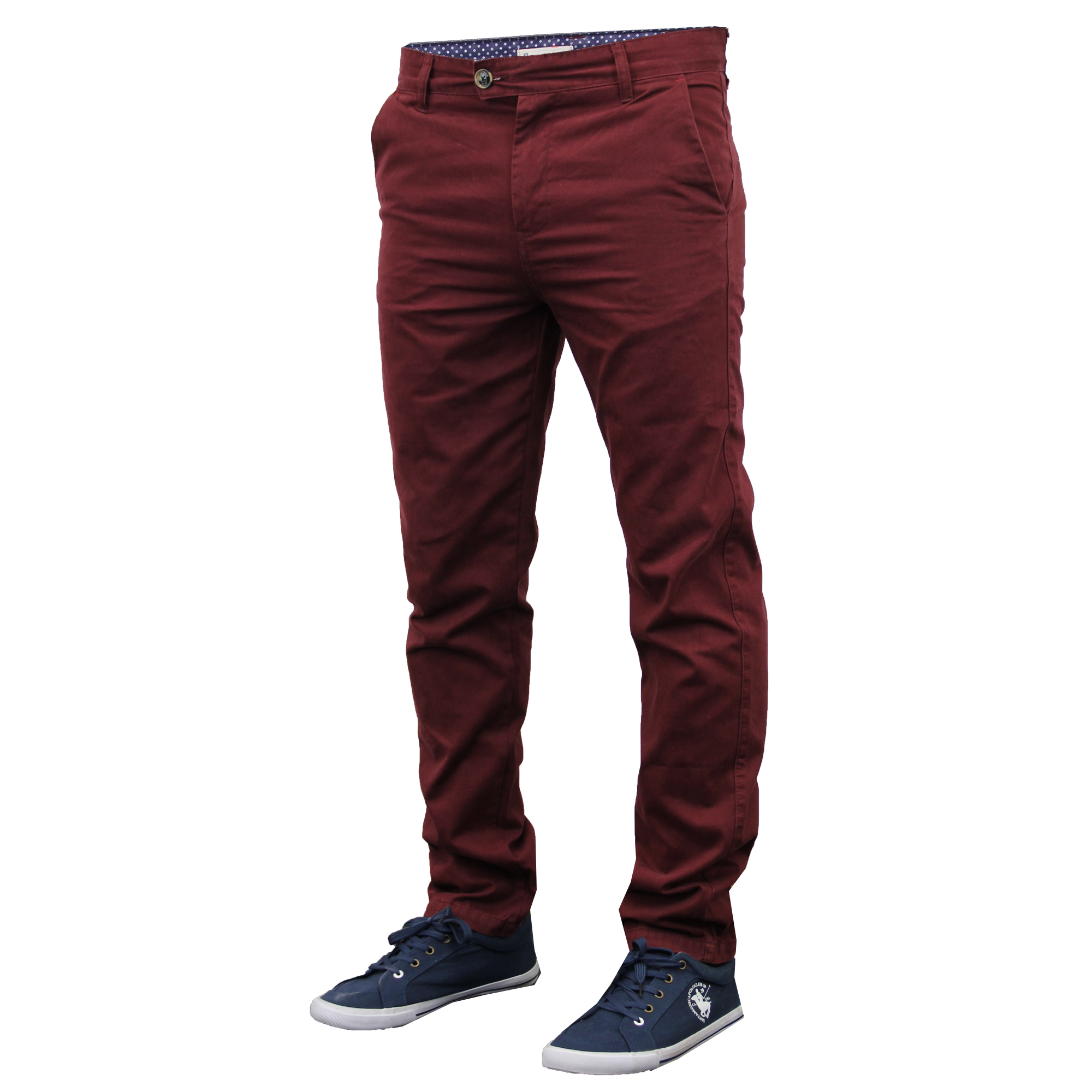 Mens Chino Jeans Stallion Bottoms Slim Fit Trousers Pants Casual Designer New | EBay