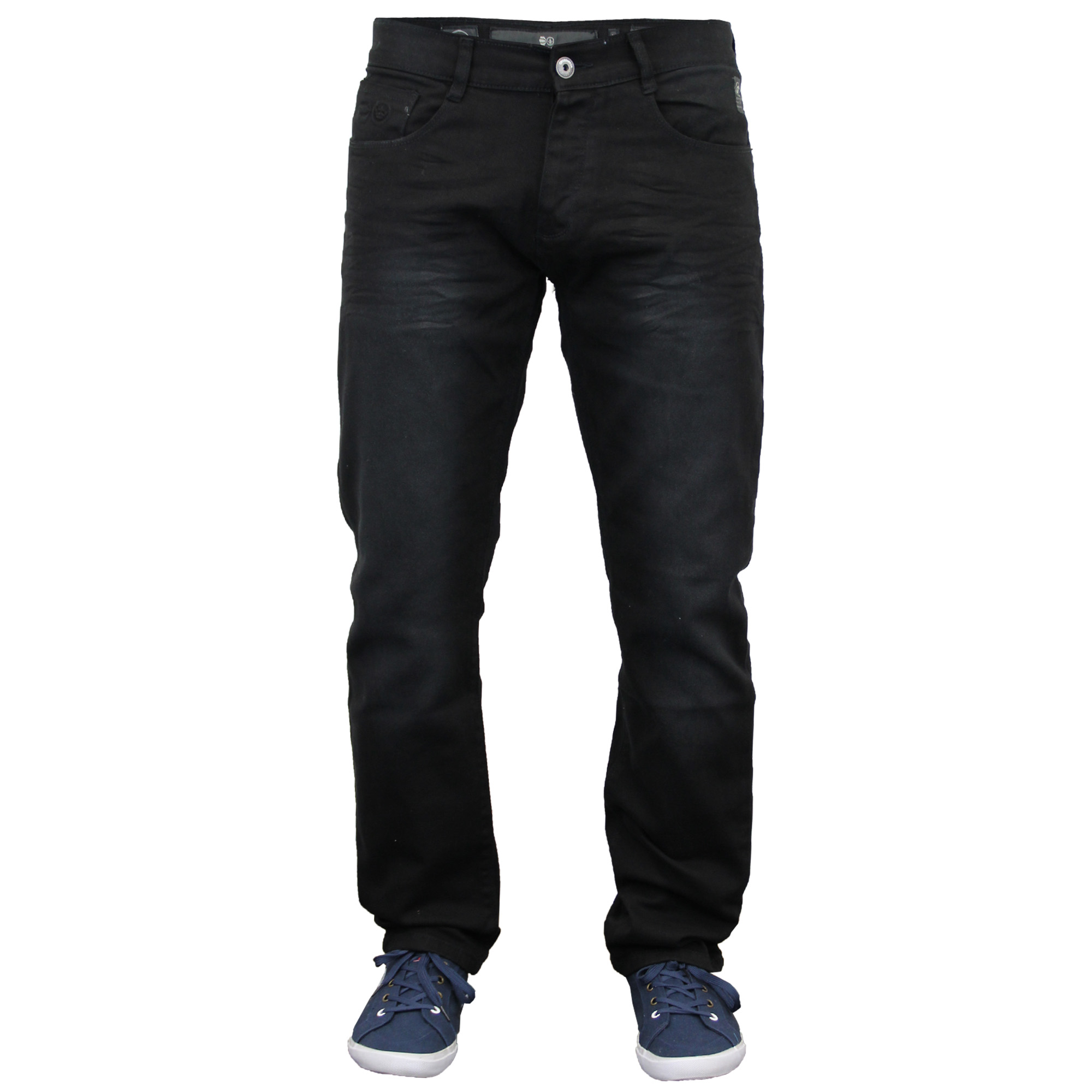 Mens Denim Jeans Crosshatch Pants Skinny Slim Fit Trouser Ruched ...