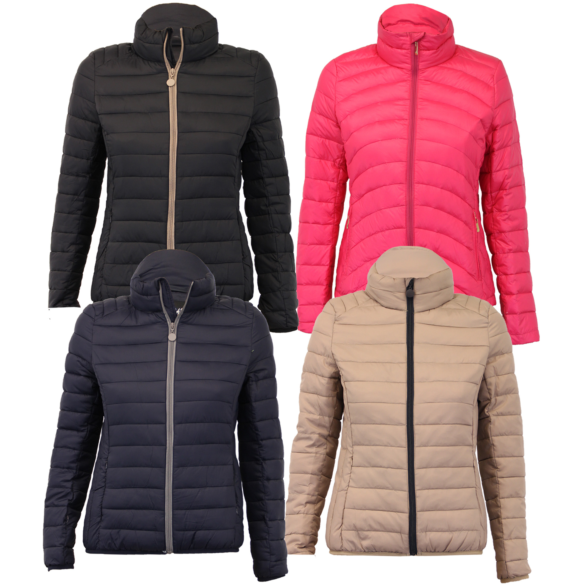 ToBeInStyle Women's Quilted Padded Jacket With Suede Piping Detail. by ToBeInStyle. $ - $ $ 29 $ 33 95 Prime. FREE Shipping on eligible orders. Some sizes/colors are Prime eligible. out of 5 stars