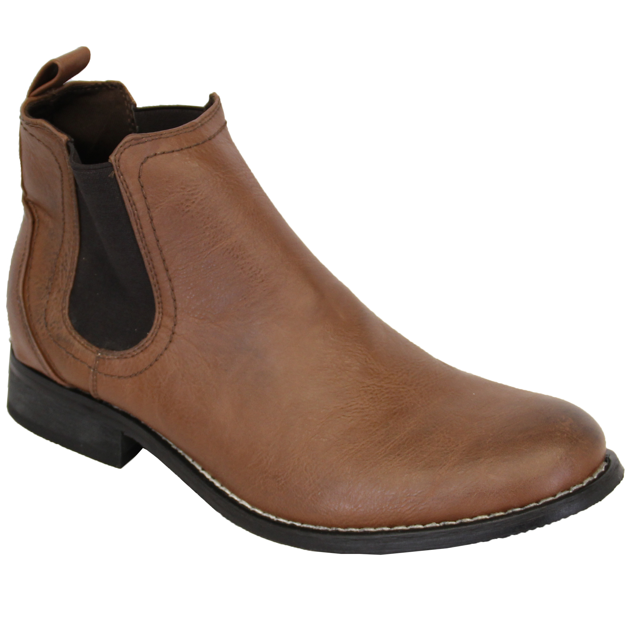 mens chelsea boots dealer high ankle leather look shoes