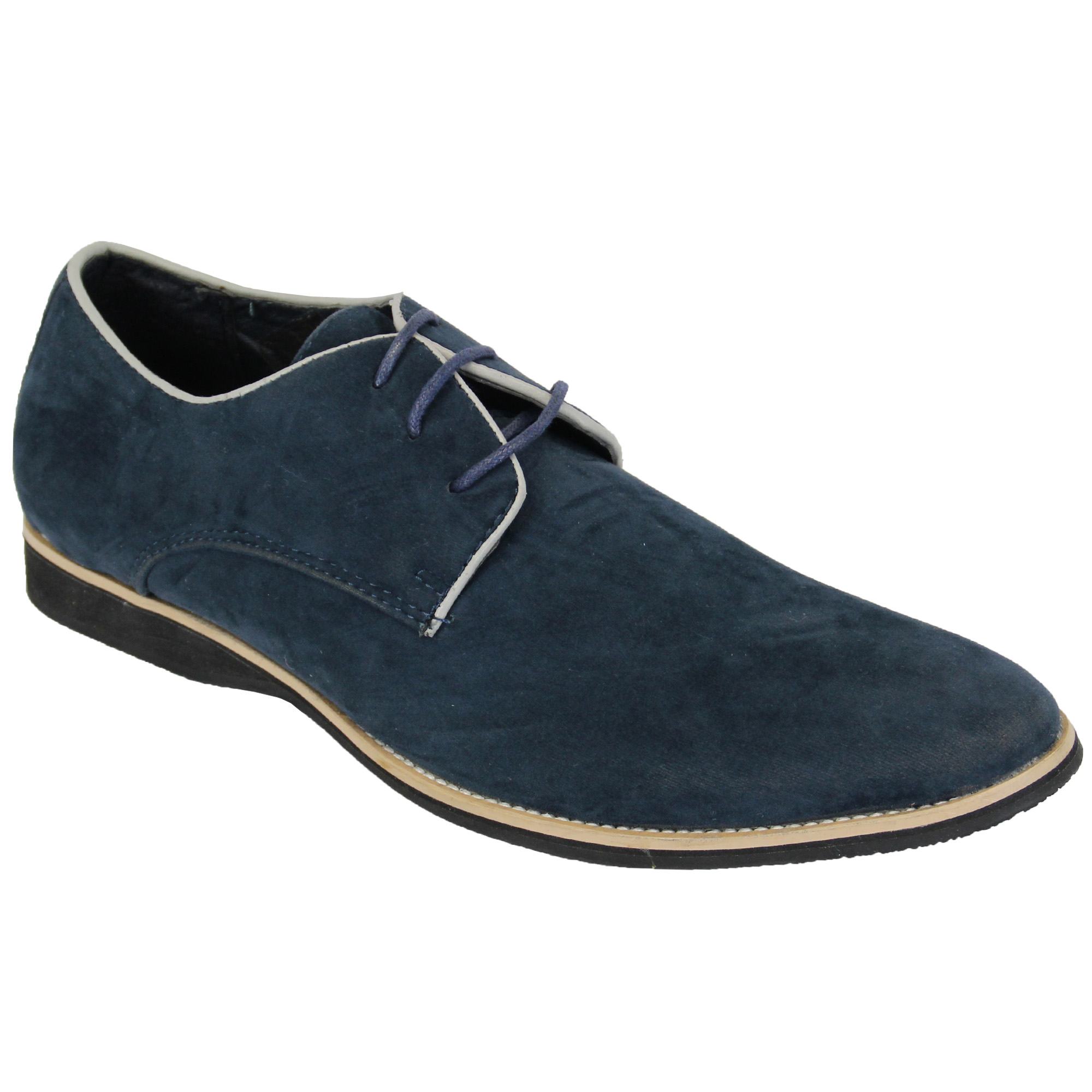 mens italian shoes brogue formal two tone suede look lace
