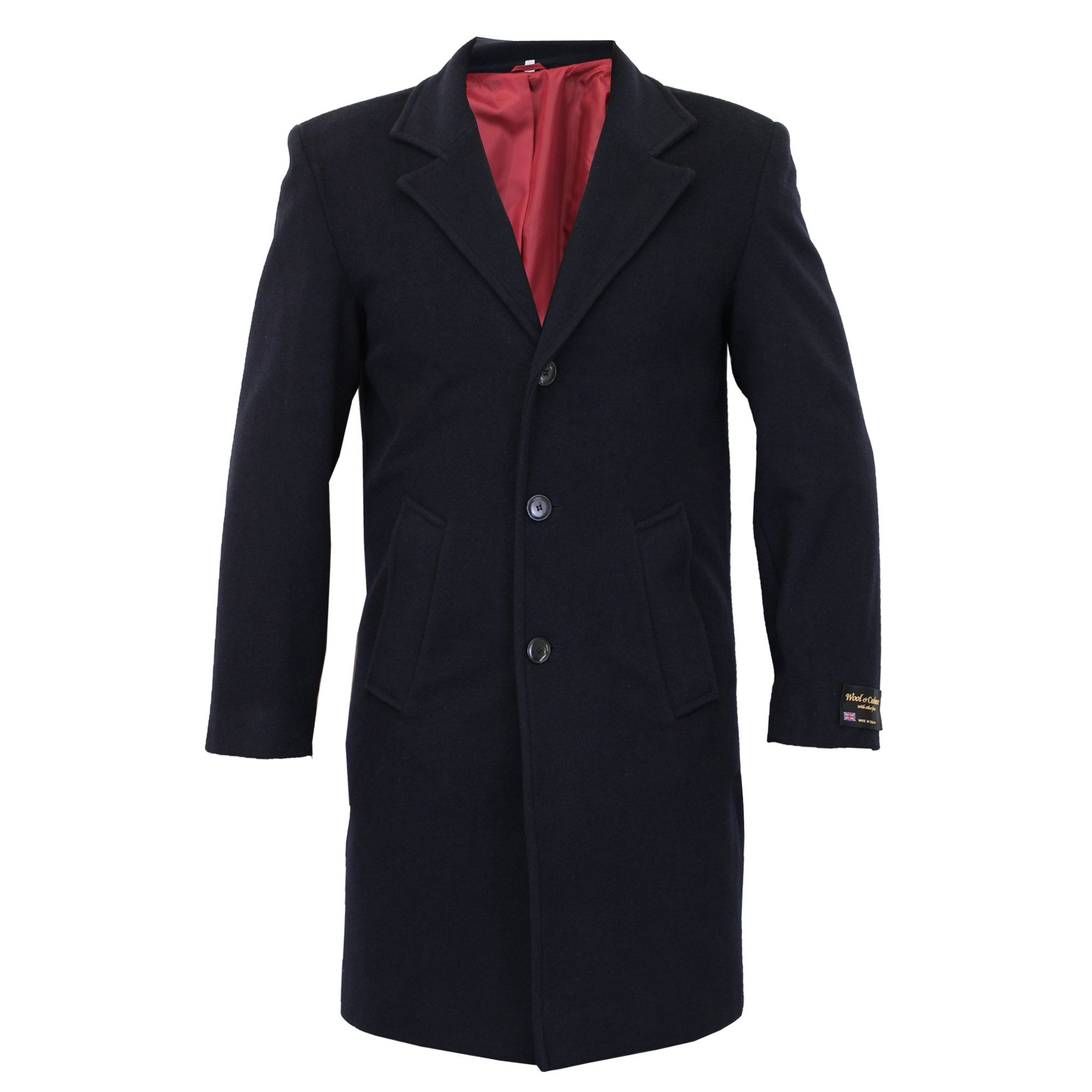 Mens Wool Cashmere Coat Jacket Outerwear Trench Overcoat