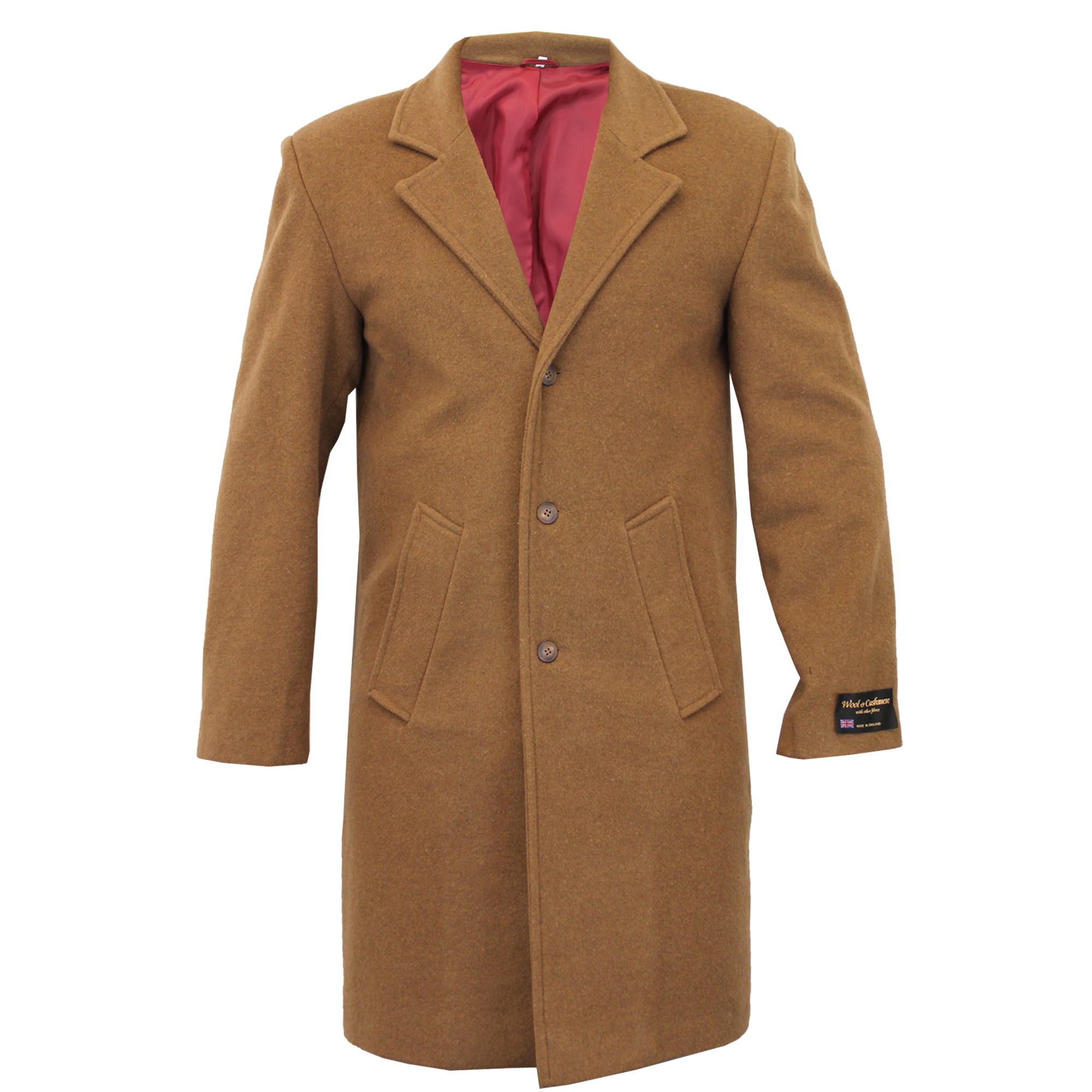 Mens Wool Cashmere Coat Jacket Outerwear Trench Overcoat ...