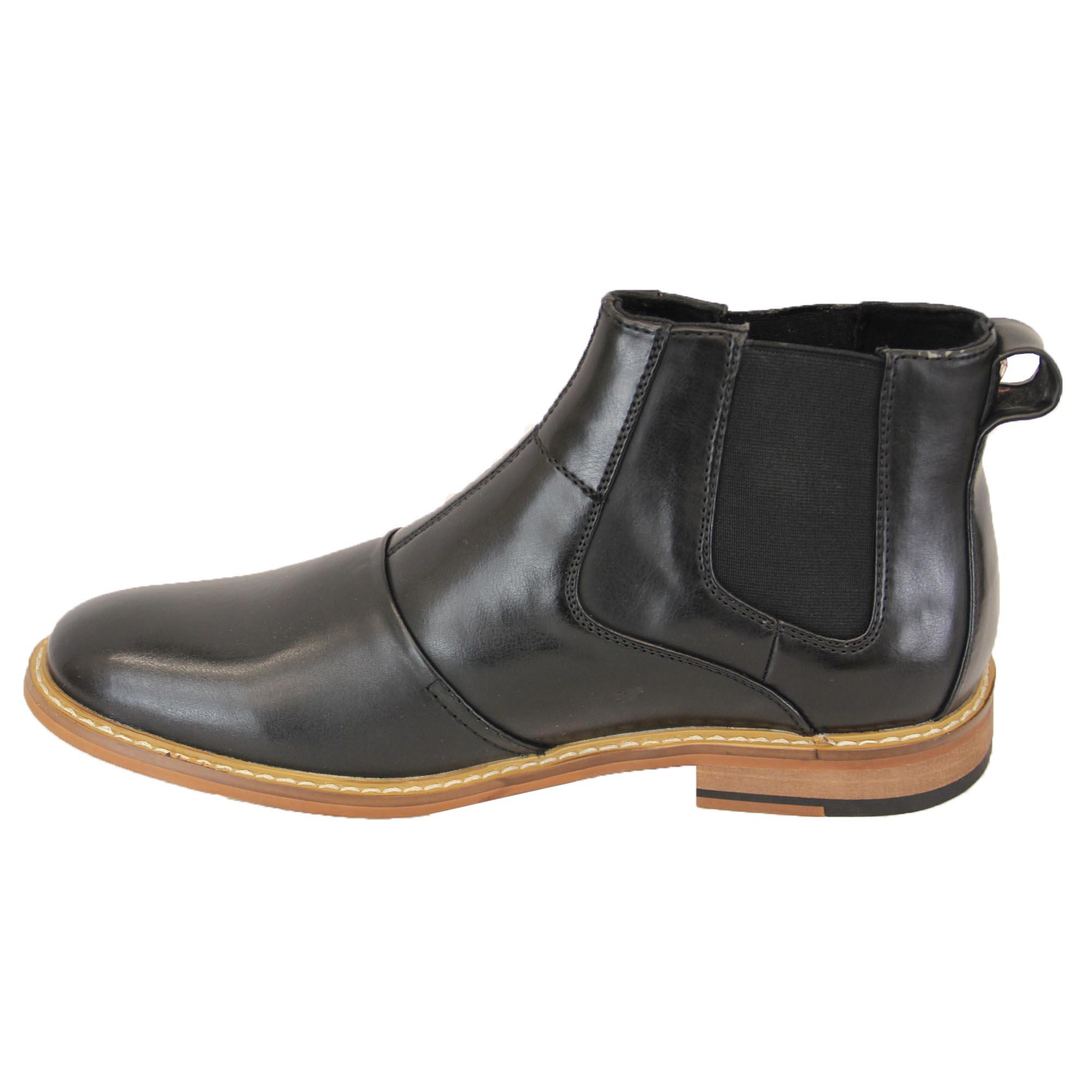 mens boots voeut brogue chelsea dealer shoes high ankle