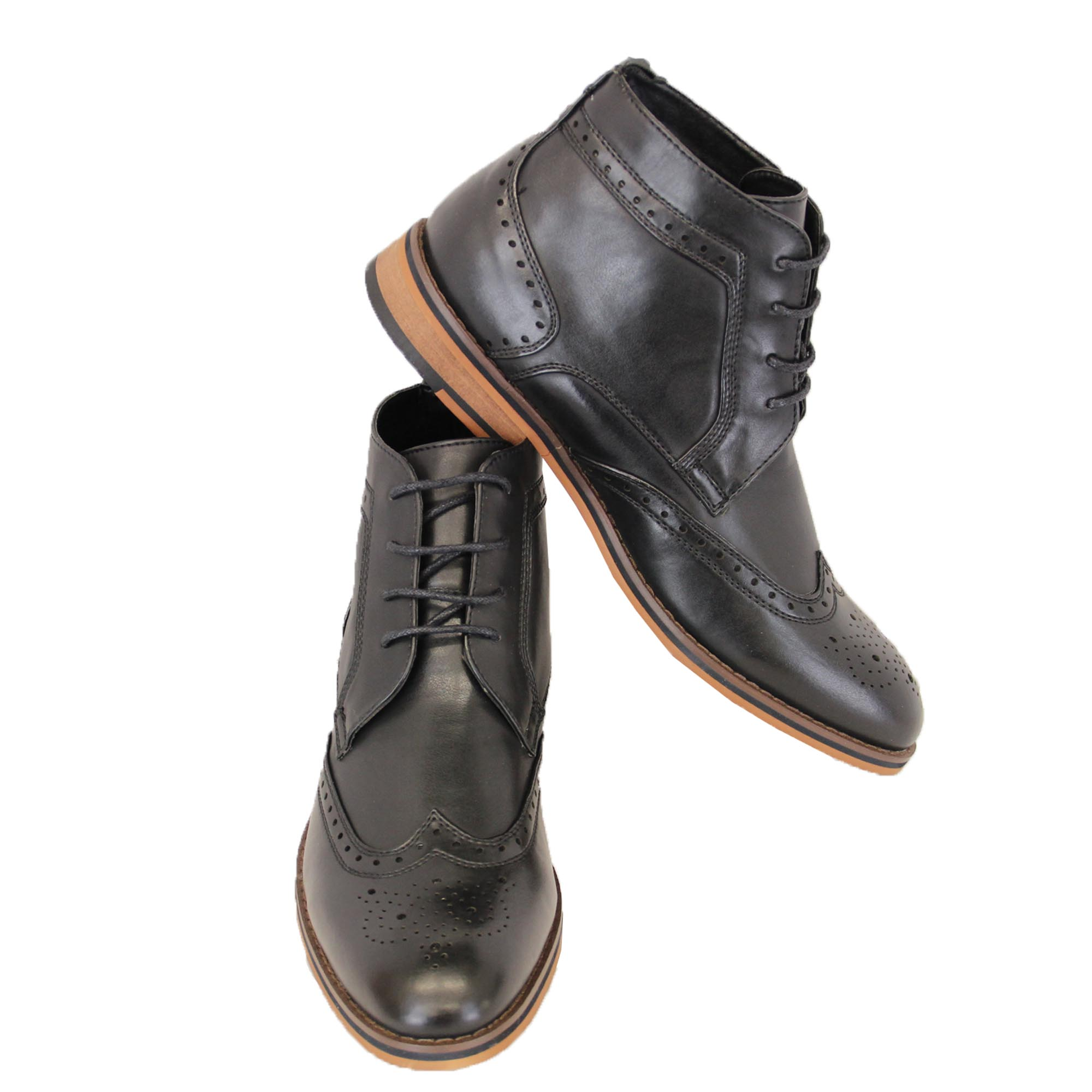 mens boots voeut brogue chelsea dealer shoes high ankle
