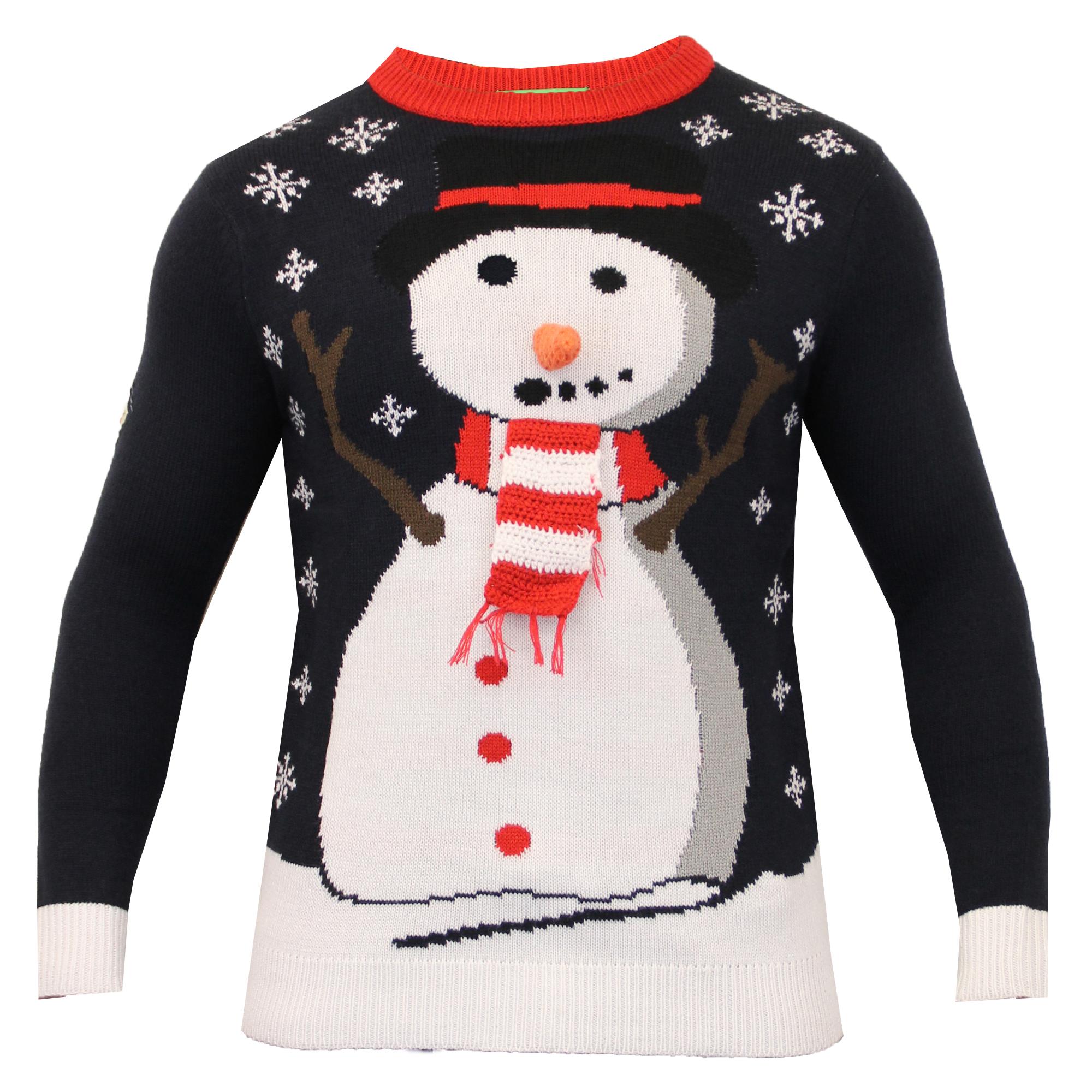 Christmas Jumper Knitting Patterns For Men : Mens Christmas Jumper Threadbare Xmas Knitted Snowman Santa Novelty Sweater N...