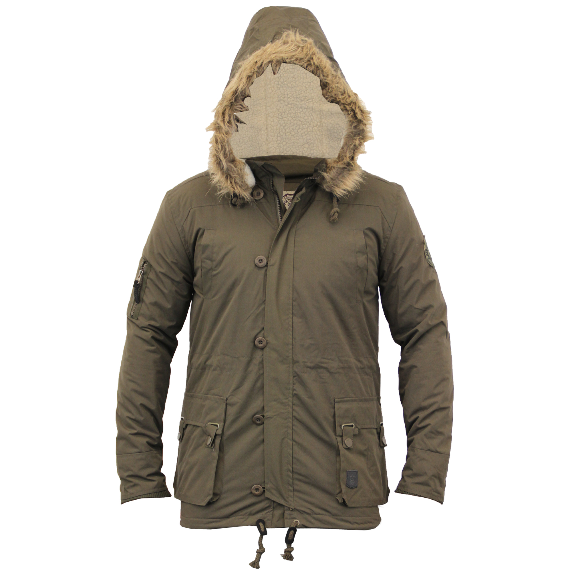 Mens Parka Style Jacket Soul Star Coat Padded Quilted