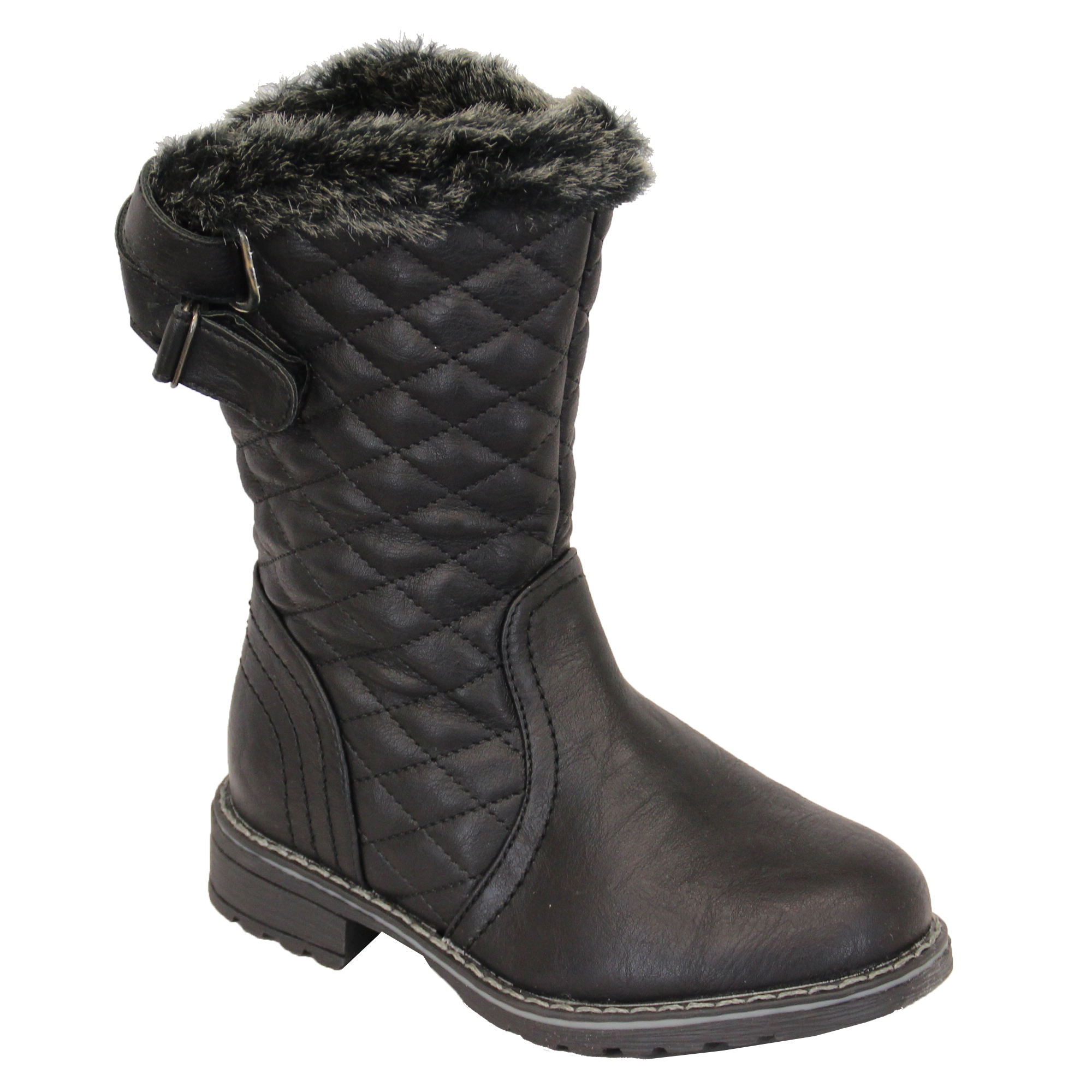 snow boots shoes leather look high ankle top