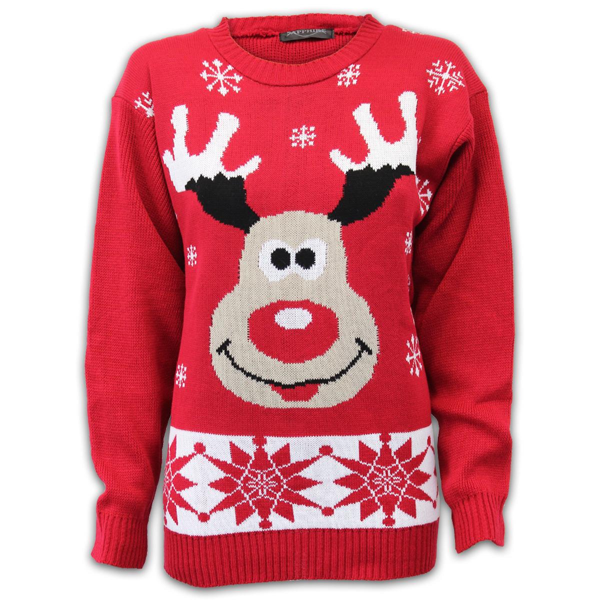 Mens Christmas Jumper Threadbare Xmas Knitted Snowman Santa Novelty Sweater N...