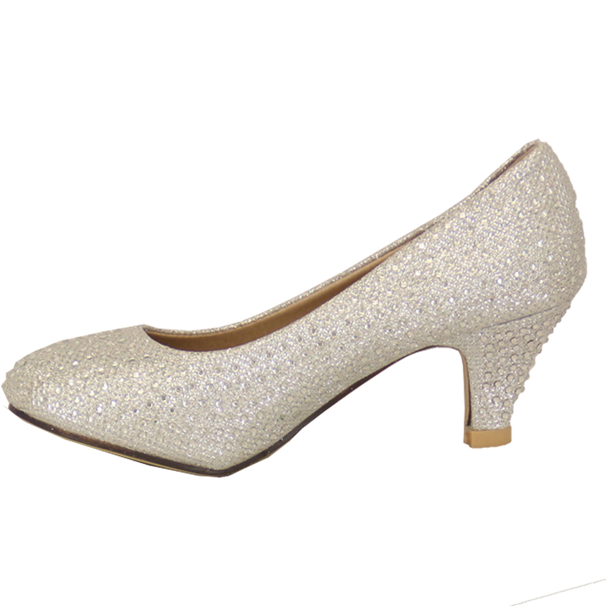 Diamante Kitten Heels