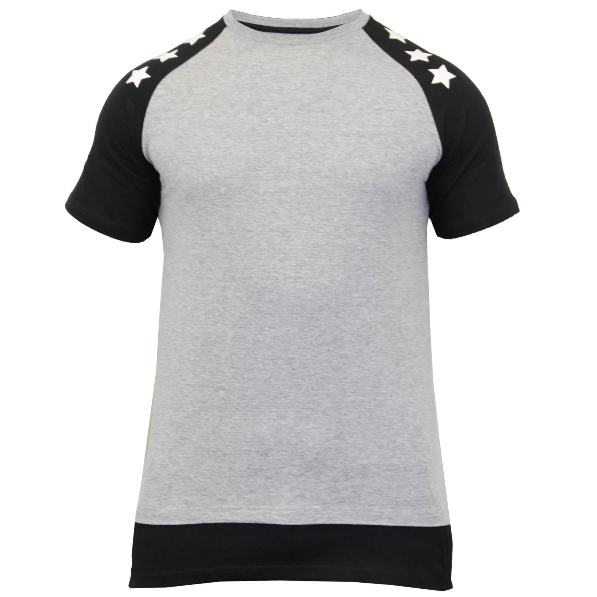 Mens long line t shirt by soul star short sleeved ebay for Long line short sleeve t shirt