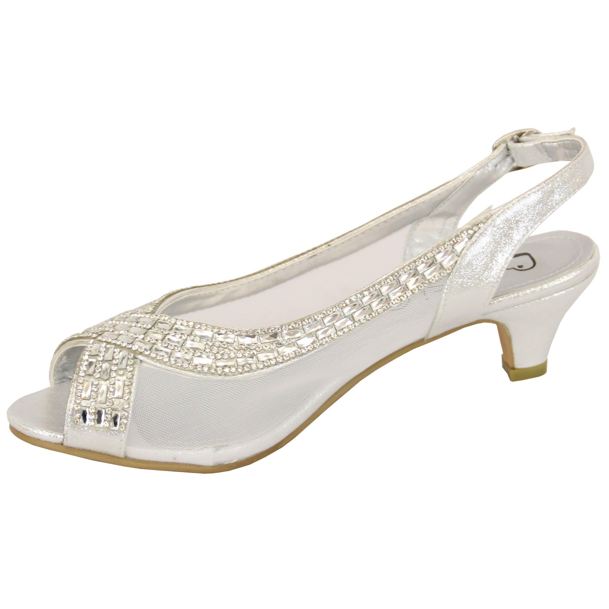 Ladies Kitten Heel Sandals
