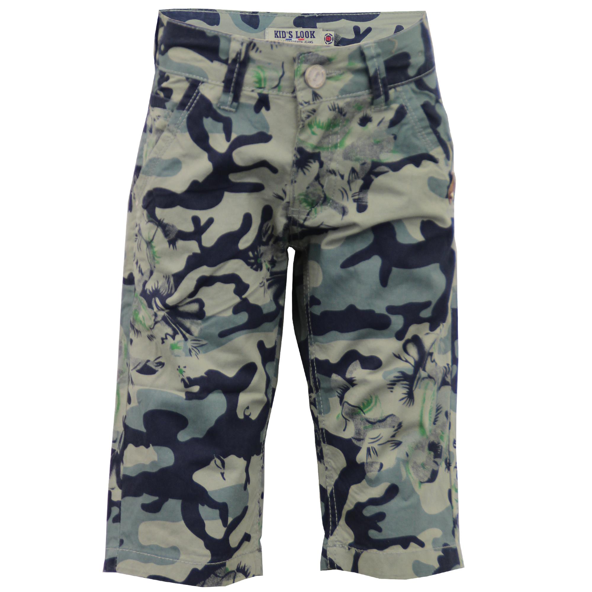 Boys Kids 3 Quarter Camouflage Army Cotton Shorts | eBay