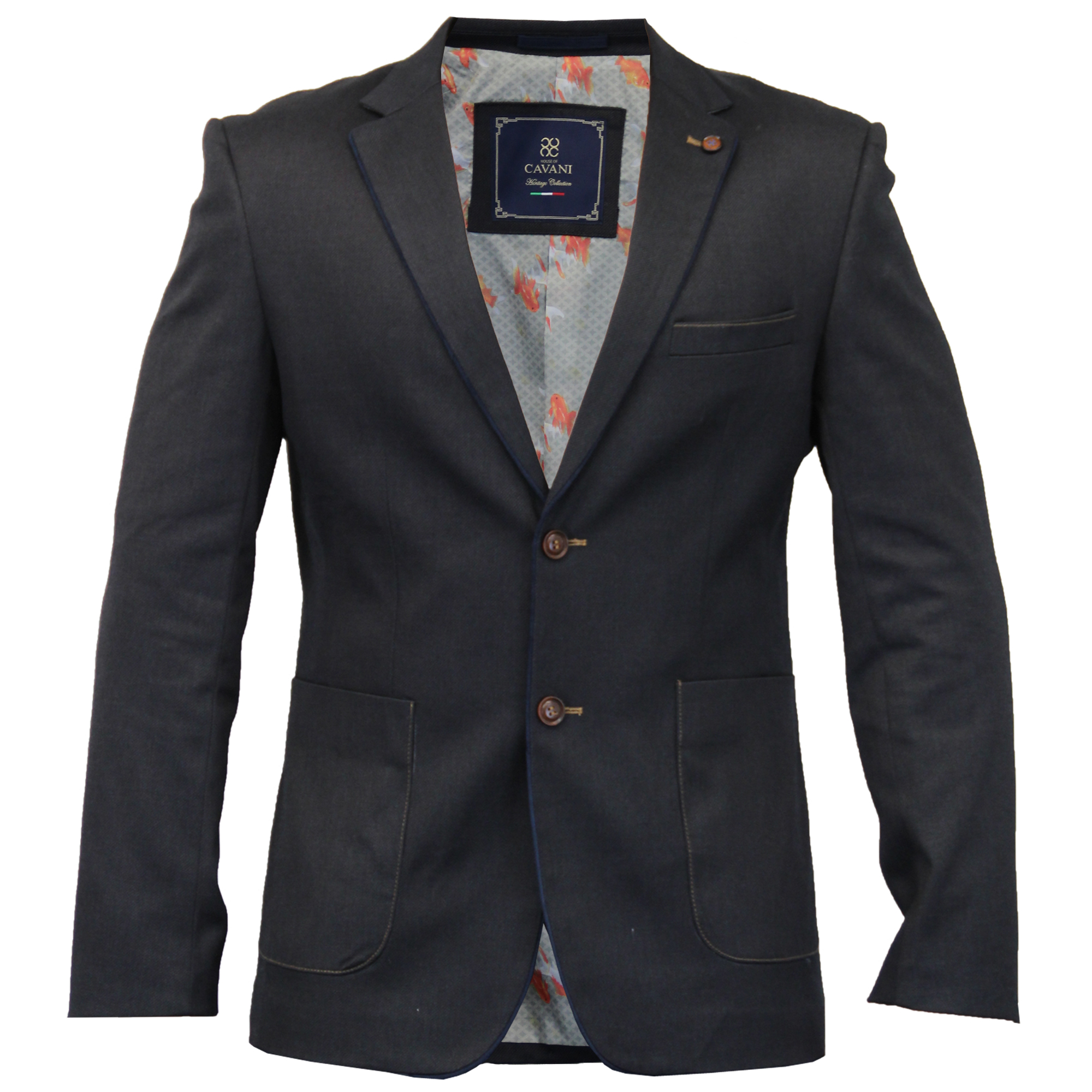 Mens Wool Mix Slim Fit Blazer Jacket By Cavani | eBay