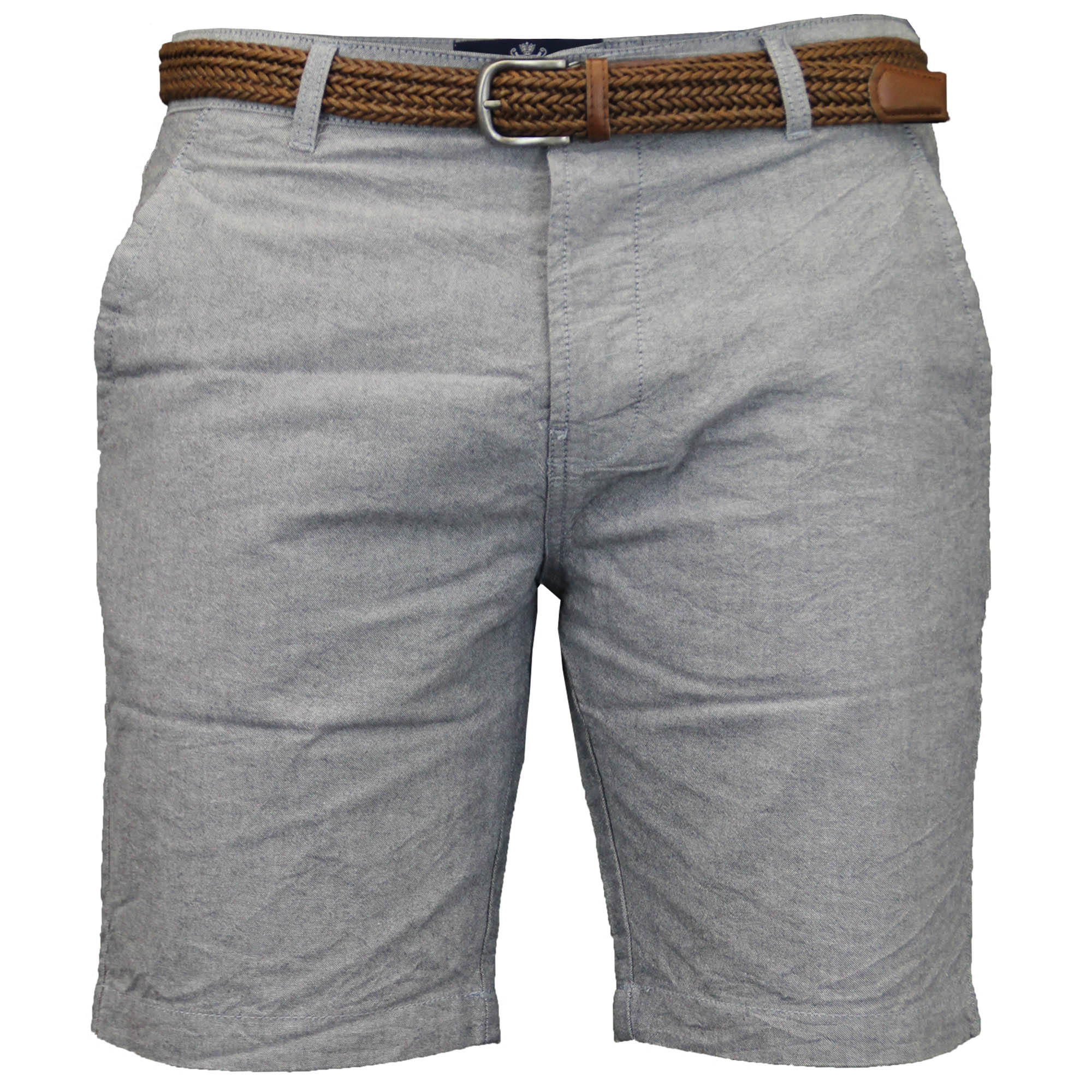 Mens Belted Chino Seven Series Cotton Threadbare Shorts