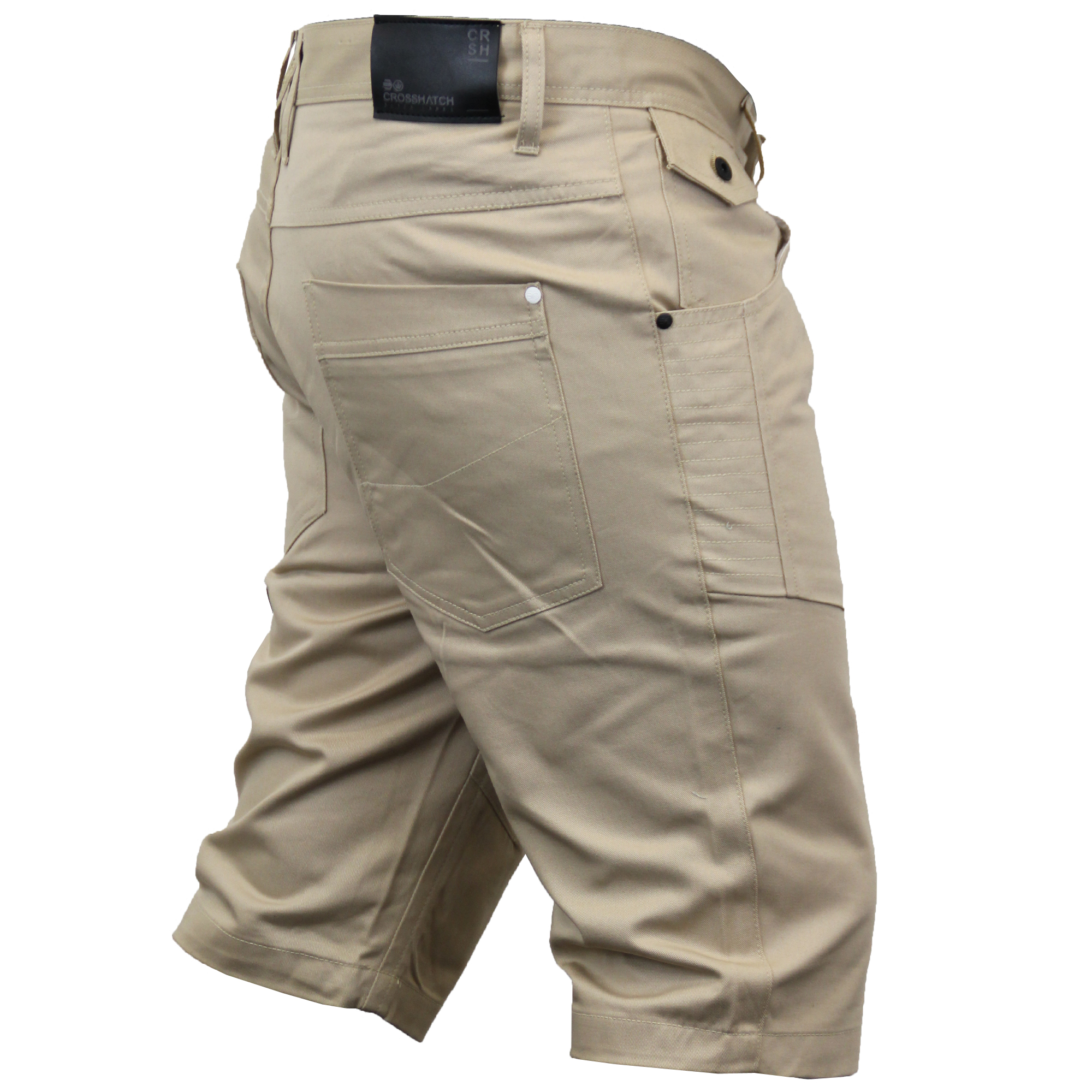 Mens Knee Length Chino Shorts By Crosshatch | eBay