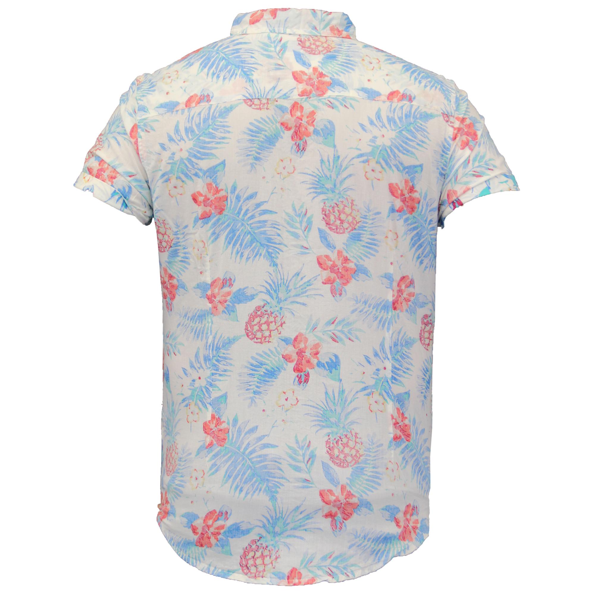 Mens hawaii floral shirt by soul star short sleeved ebay for Mens short sleeve floral shirt