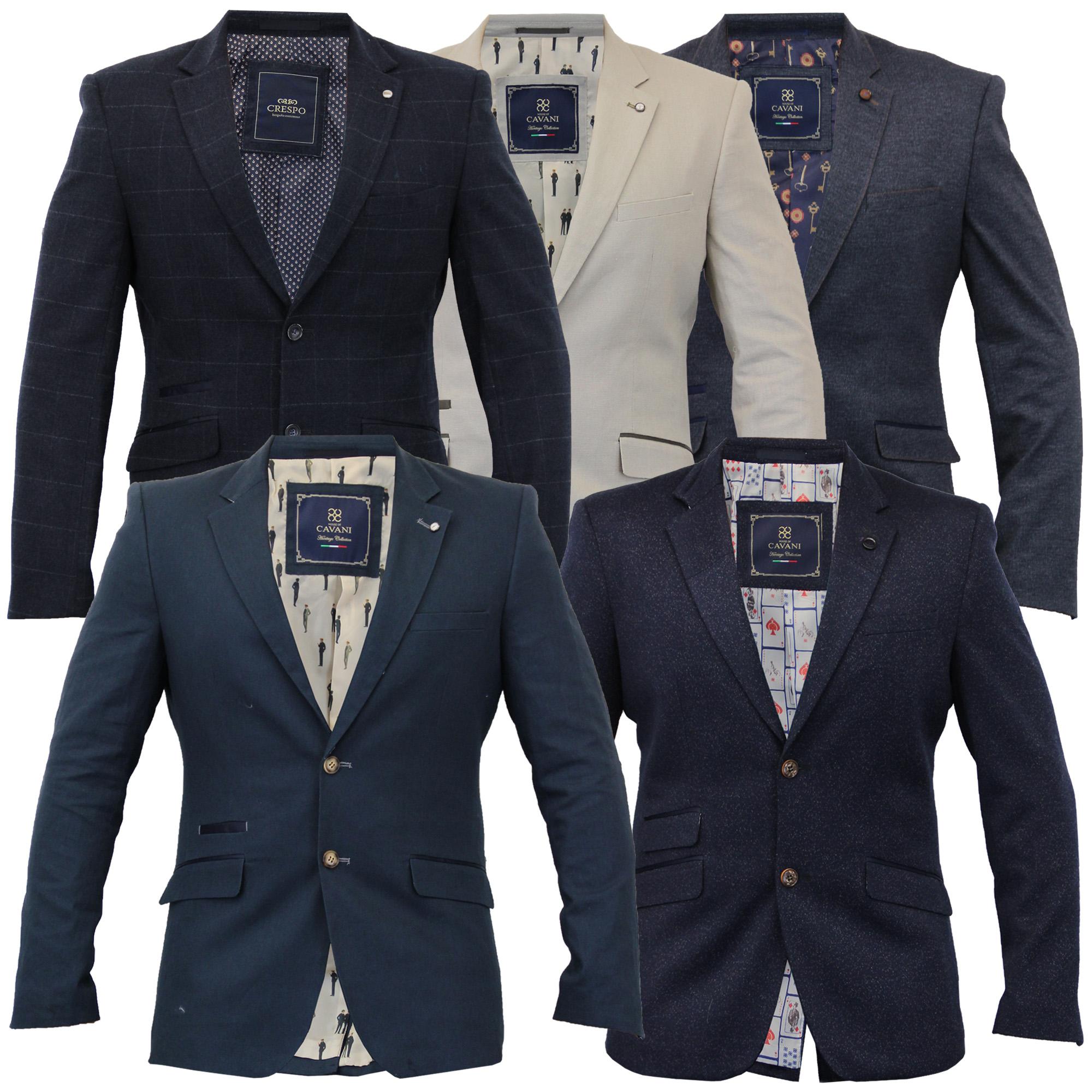 mens linen slim fit blazer jacket by cavani ebay. Black Bedroom Furniture Sets. Home Design Ideas