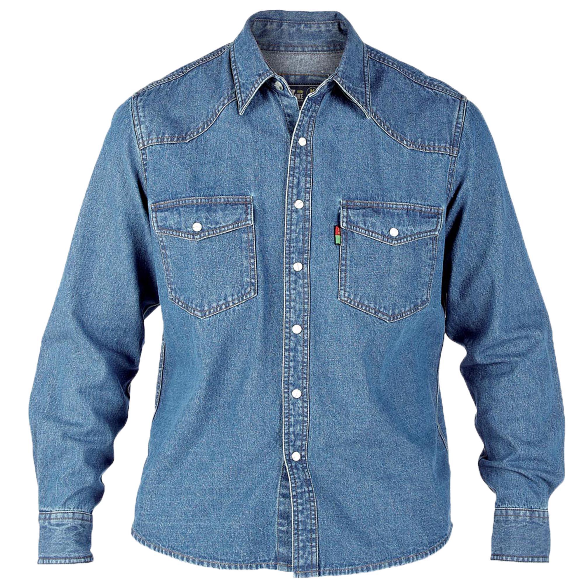 UOMO-JEANS-camicie-da-D555-DUKE-grande-misura-king