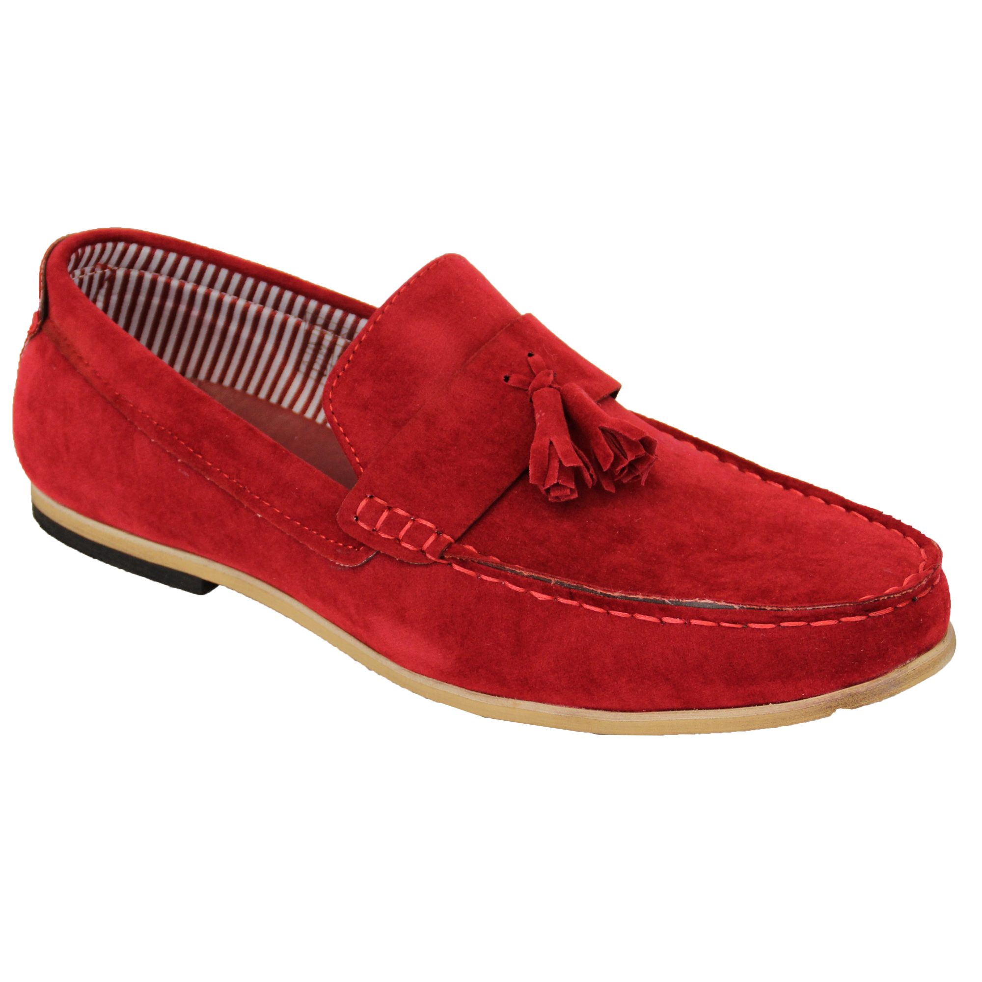 mens moccasins suede look loafers slip on boat shoes by gio gino ebay